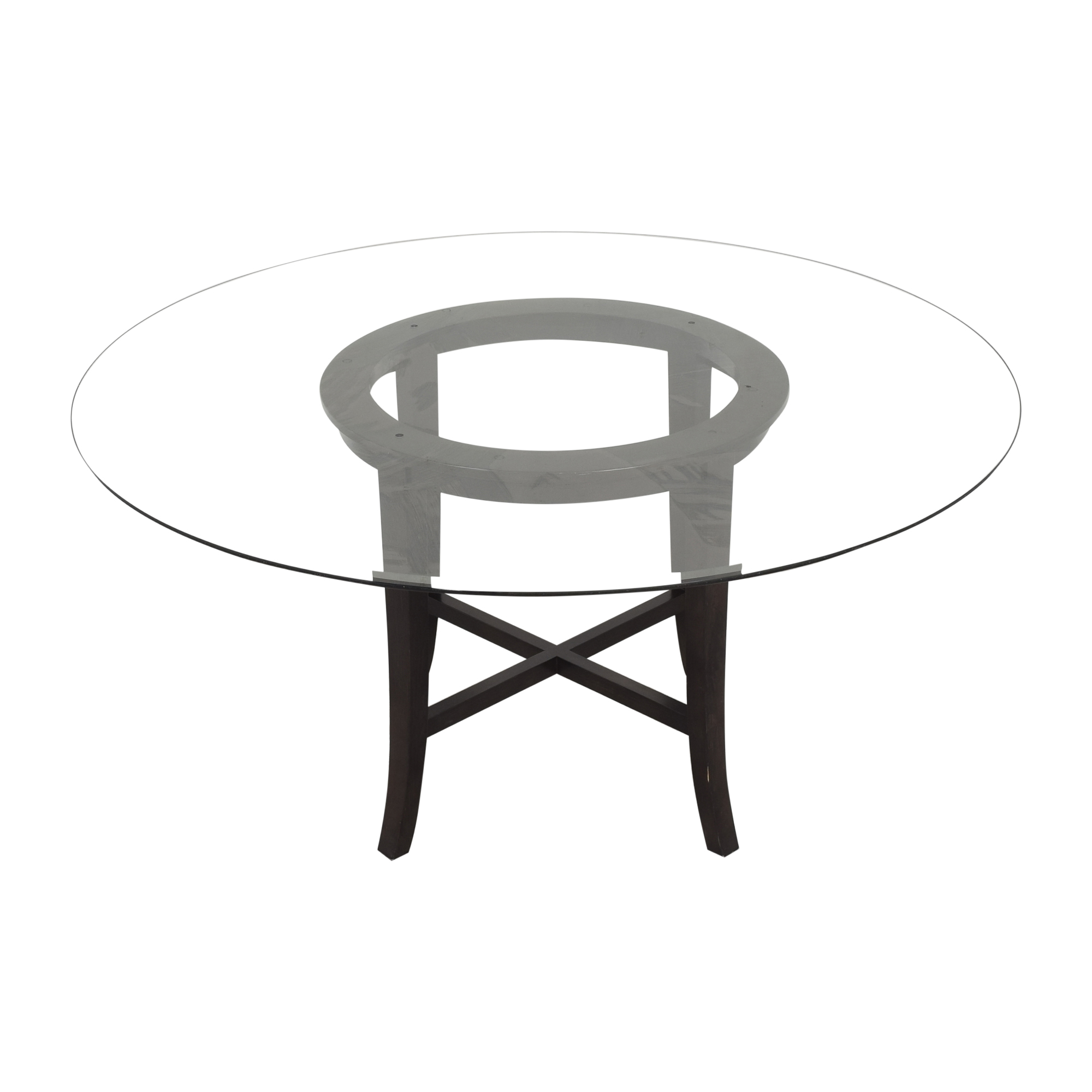 Crate & Barrel Crate & Barrel Halo Dining Table with Transparent Surface ma
