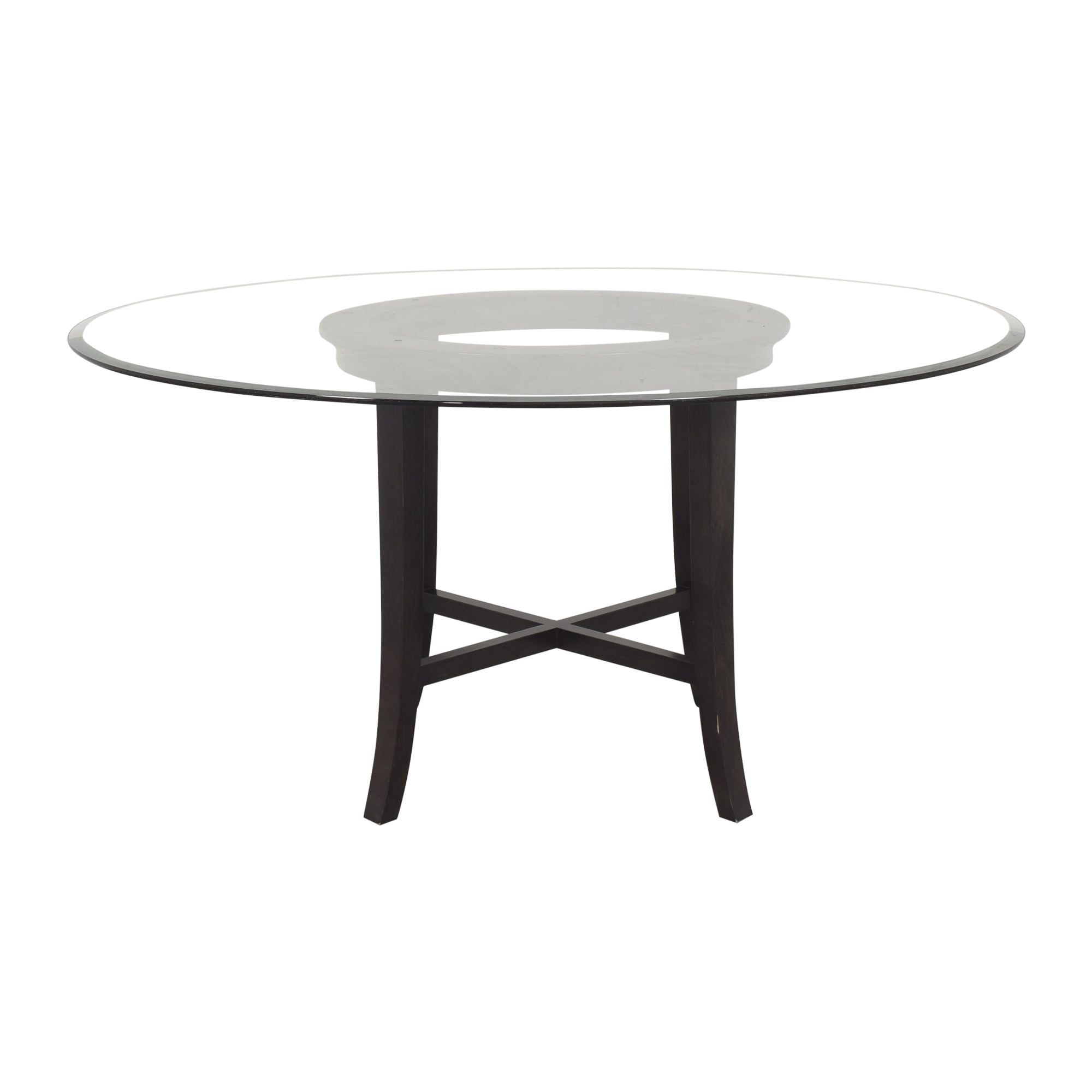 buy Crate & Barrel Halo Dining Table with Transparent Surface Crate & Barrel
