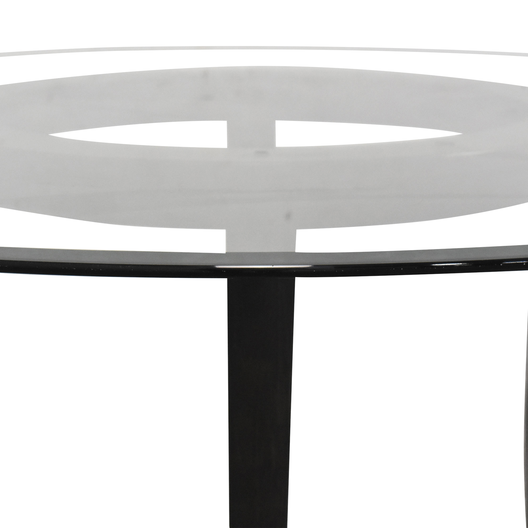 Crate & Barrel Halo Dining Table with Transparent Surface / Tables