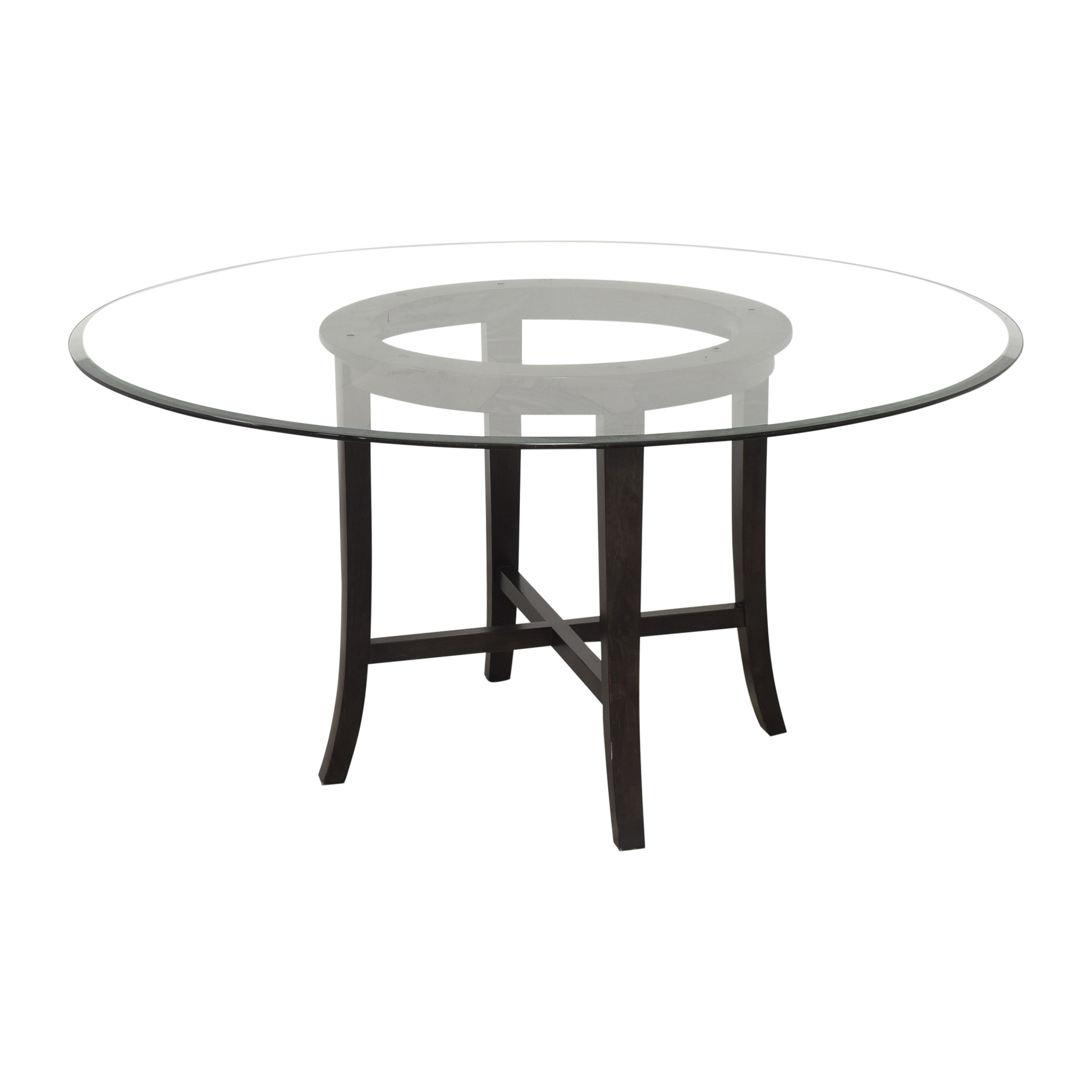 Crate & Barrel Halo Dining Table with Transparent Surface / Dinner Tables
