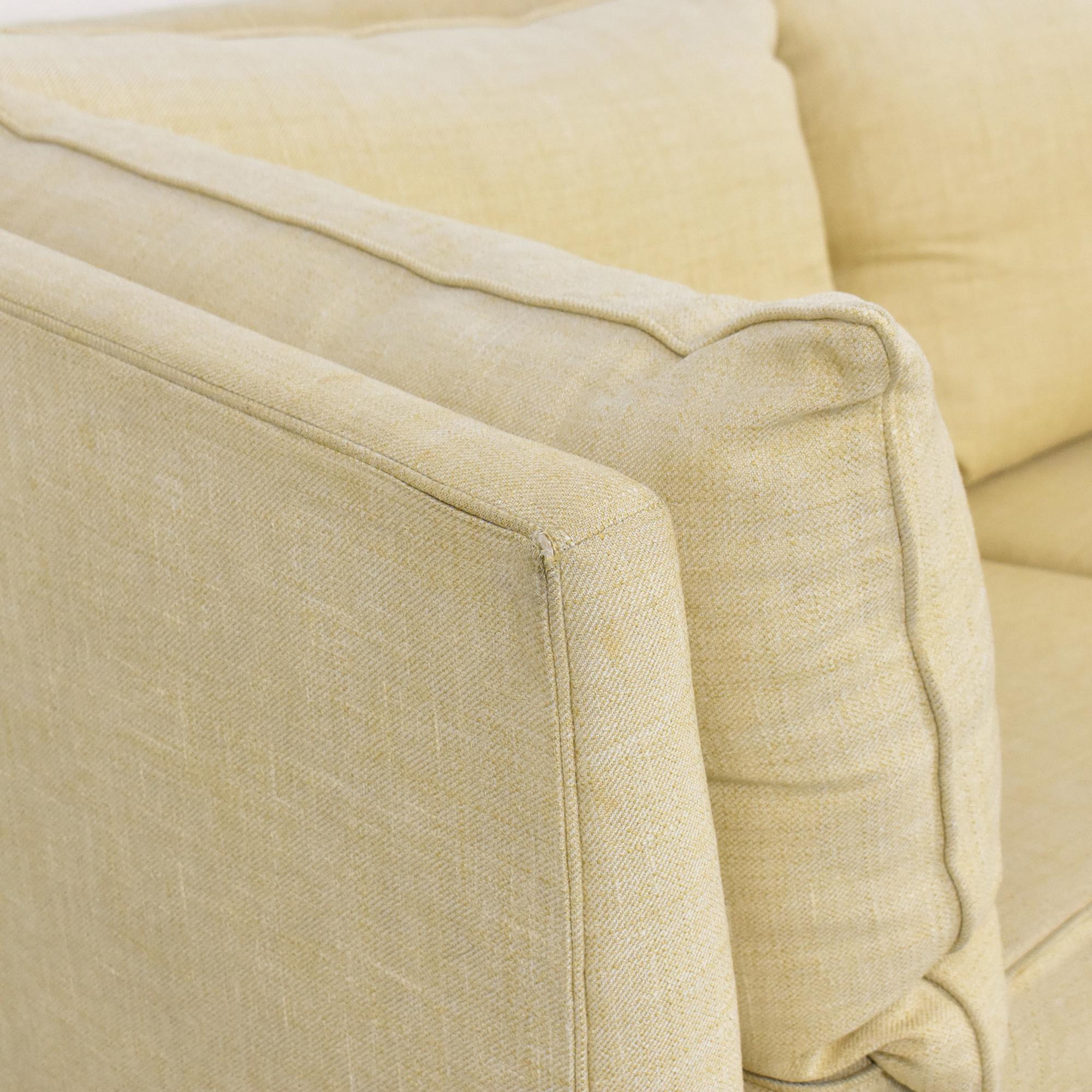 shop Custom Upholstered Shelter Arm Sofa  Classic Sofas