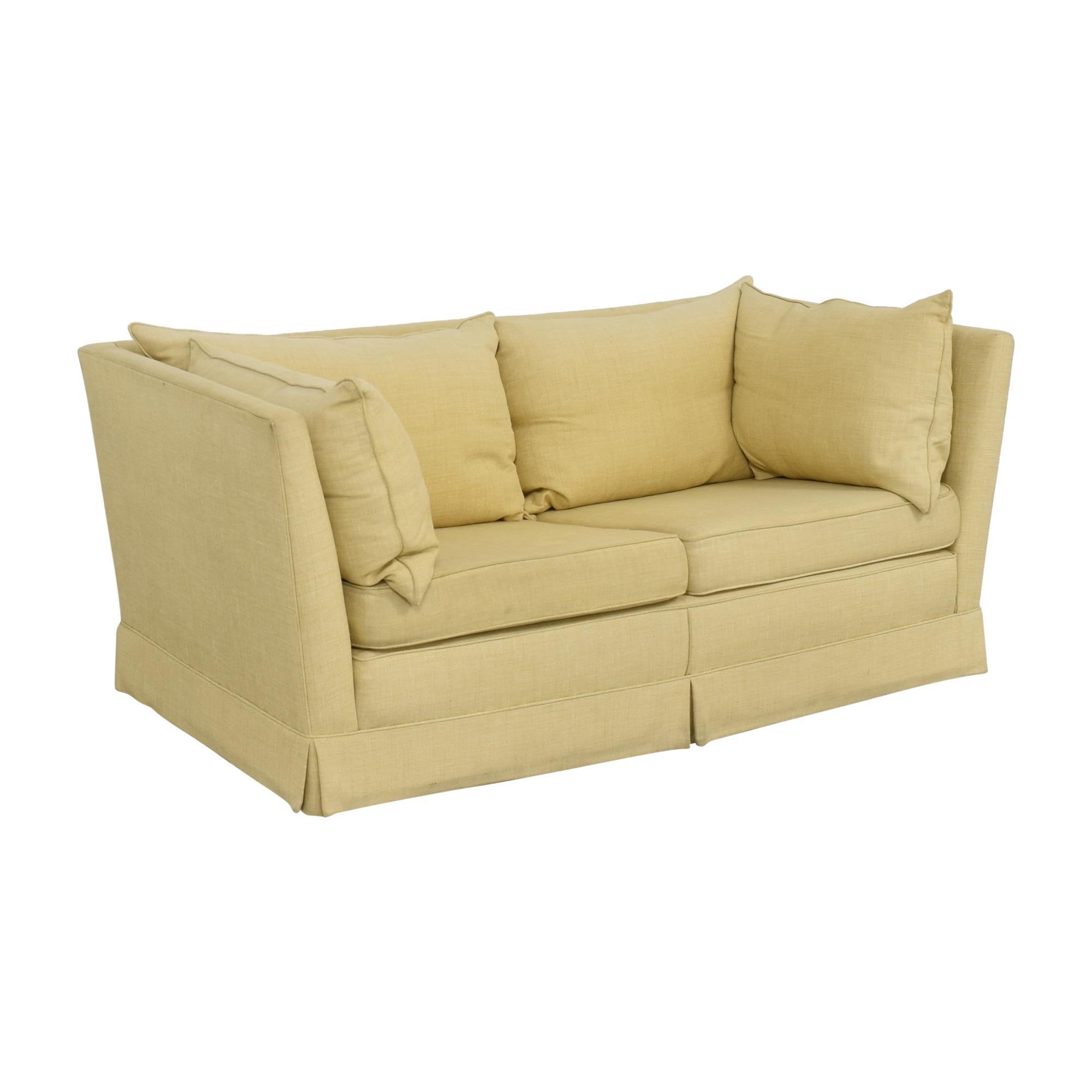 Custom Upholstered Shelter Arm Sofa / Sofas