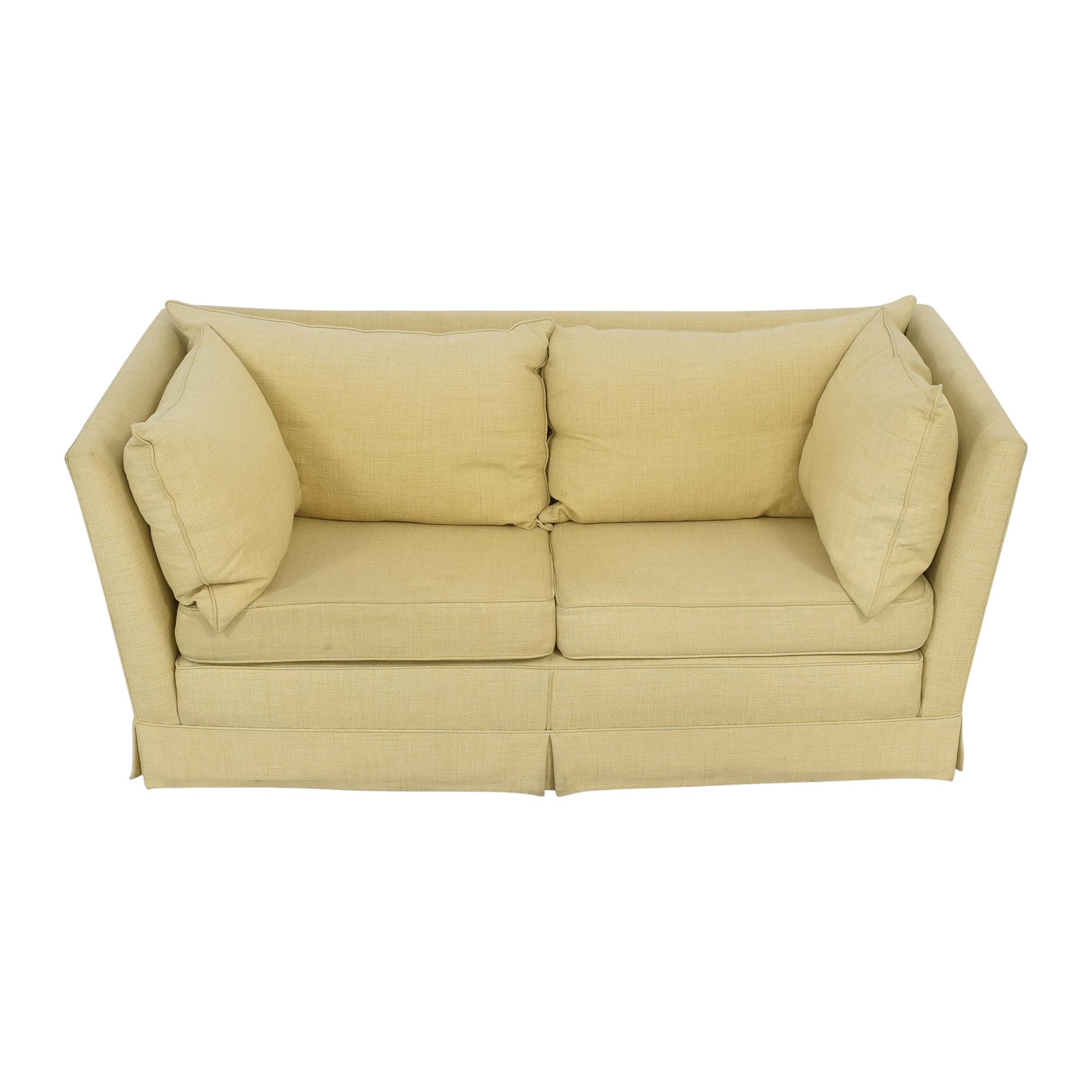 buy Custom Upholstered Shelter Arm Sofa