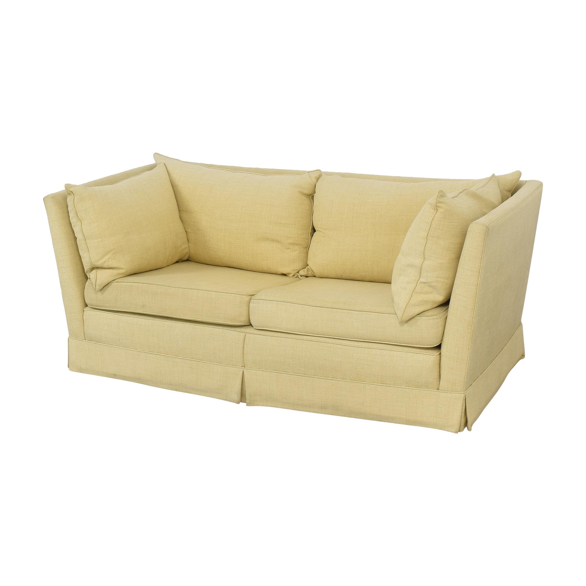 Custom Upholstered Shelter Arm Sofa used