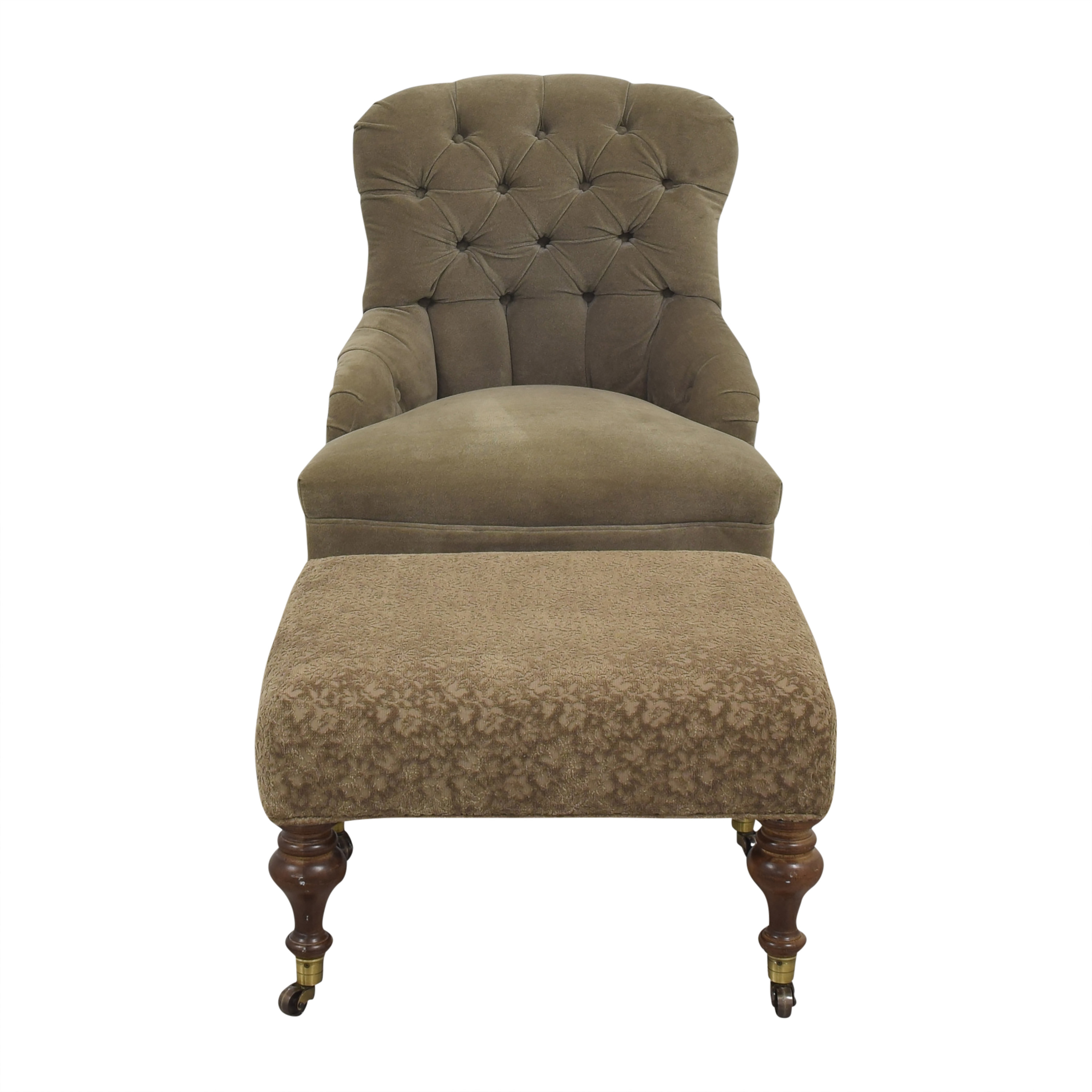 Lee Industries Lee Industries Upholstered Chair and Ottoman used
