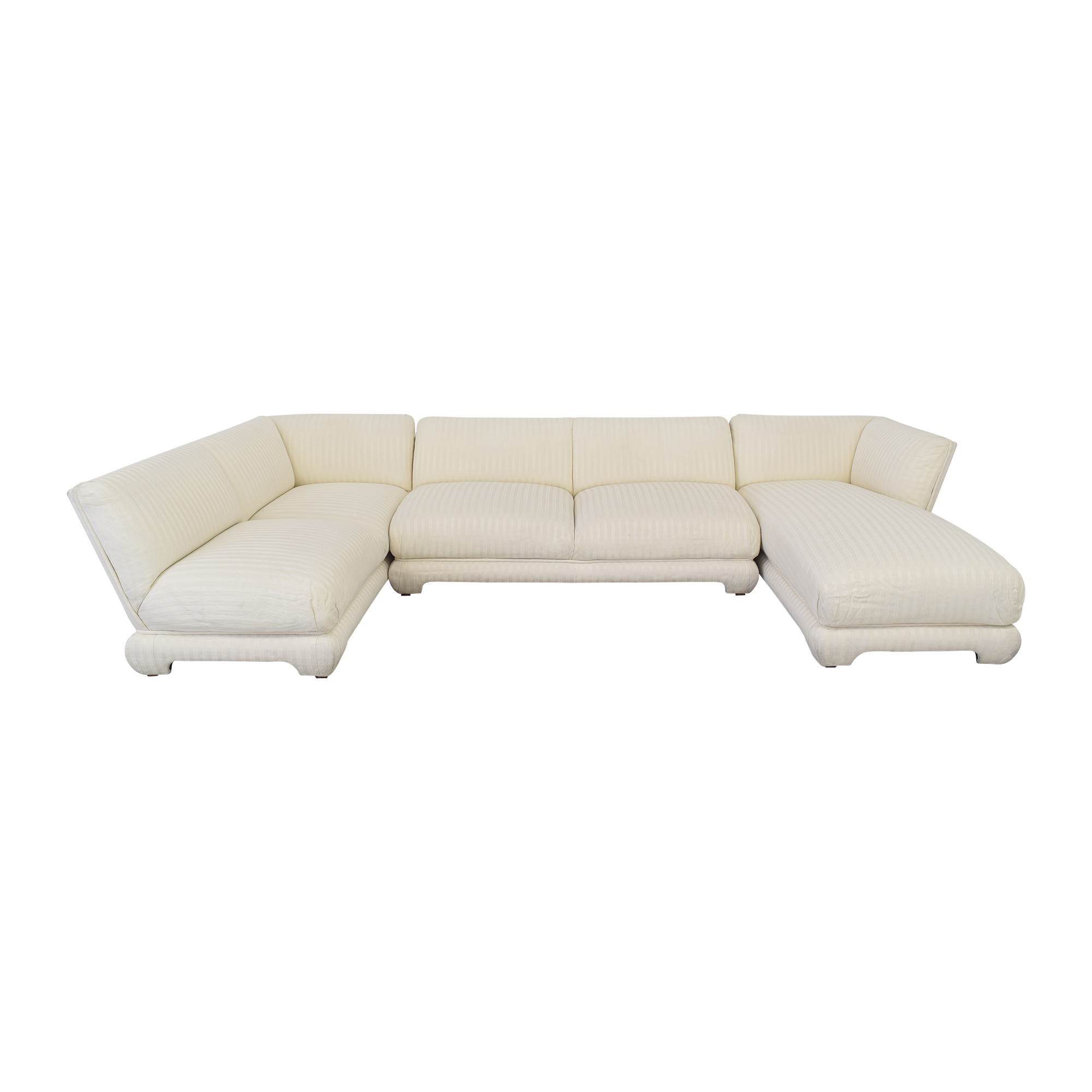 buy Three Piece Chaise Sectional Sofa  Sofas