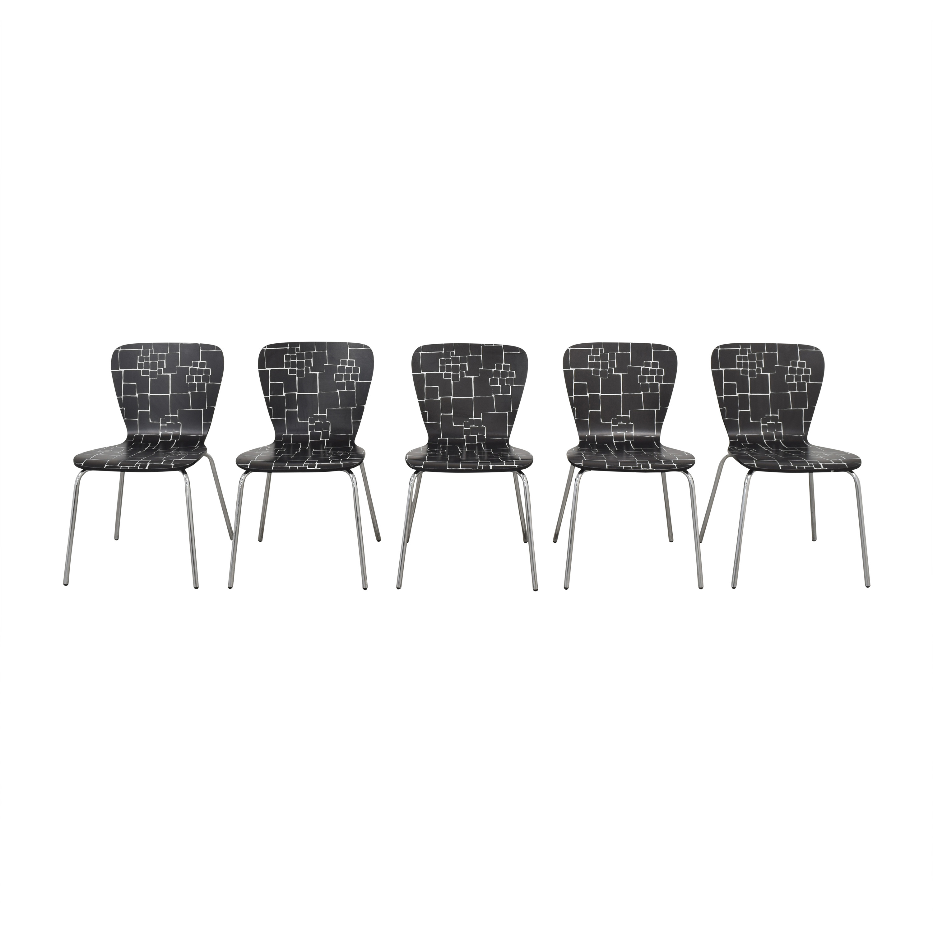 Crate & Barrel Crate & Barrel Felix Side Dining Chairs black and white