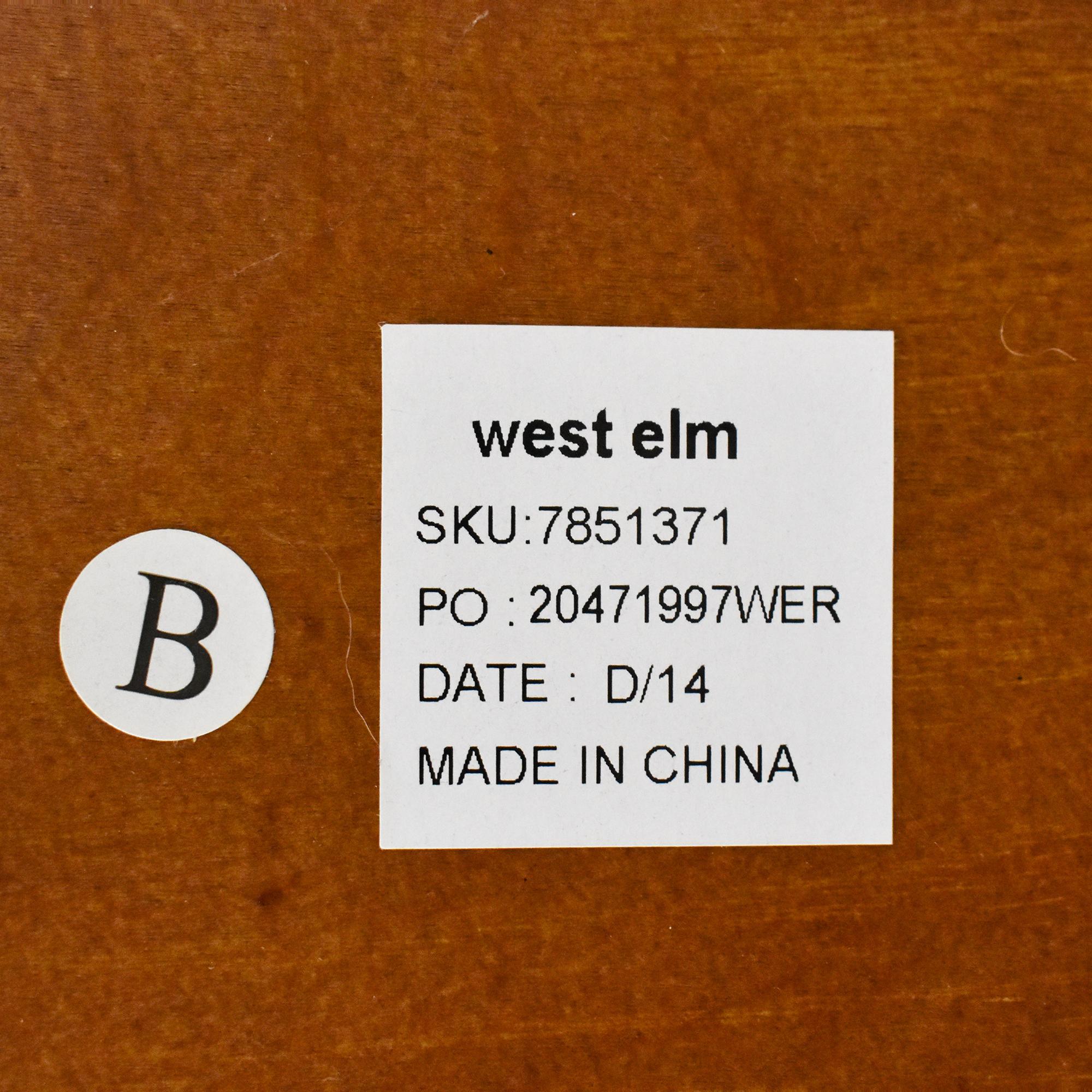 buy West Elm Rectangle Cutout Bookcase West Elm Bookcases & Shelving