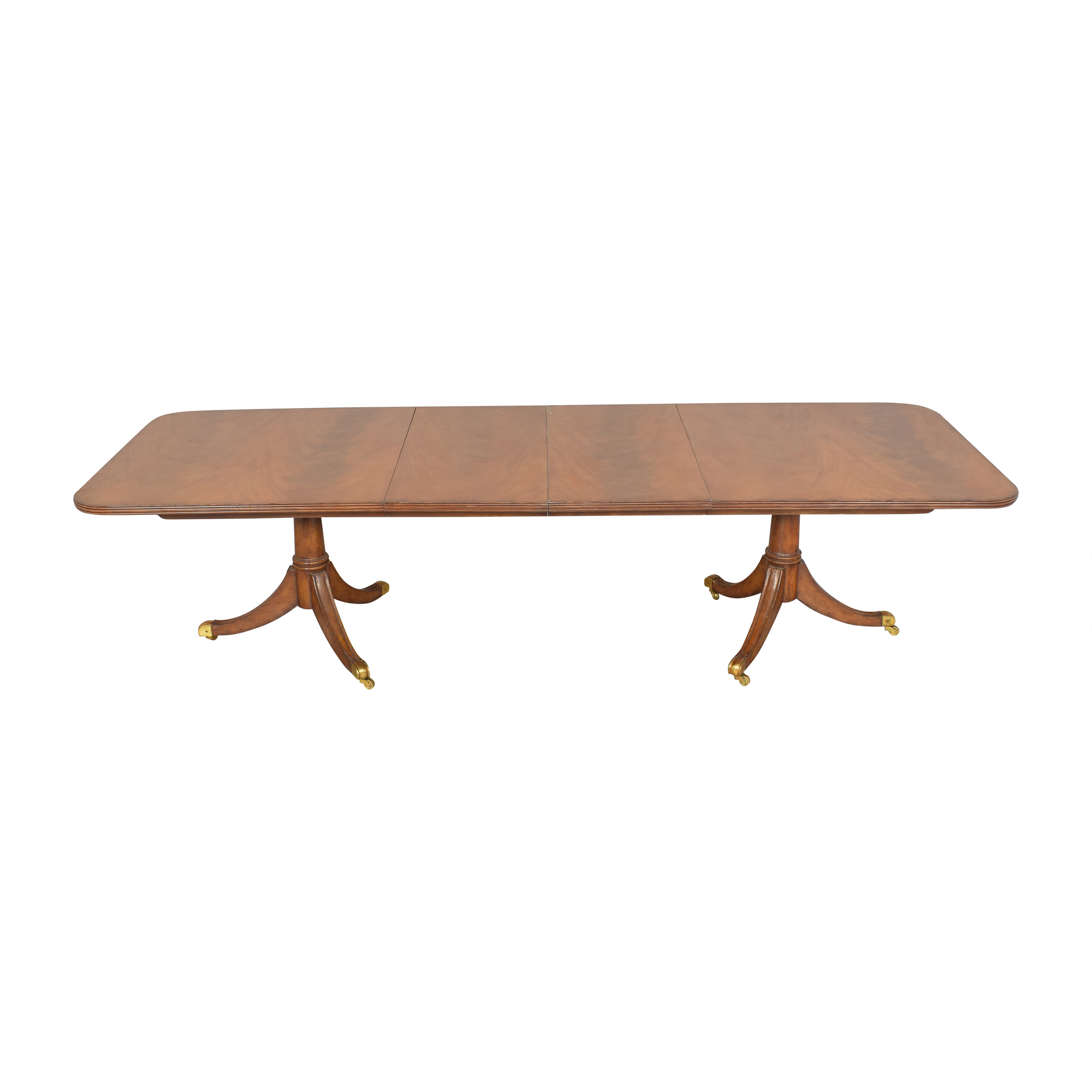 Maitland-Smith Maitland-Smith Double Pedestal Extendable Dining Table for sale