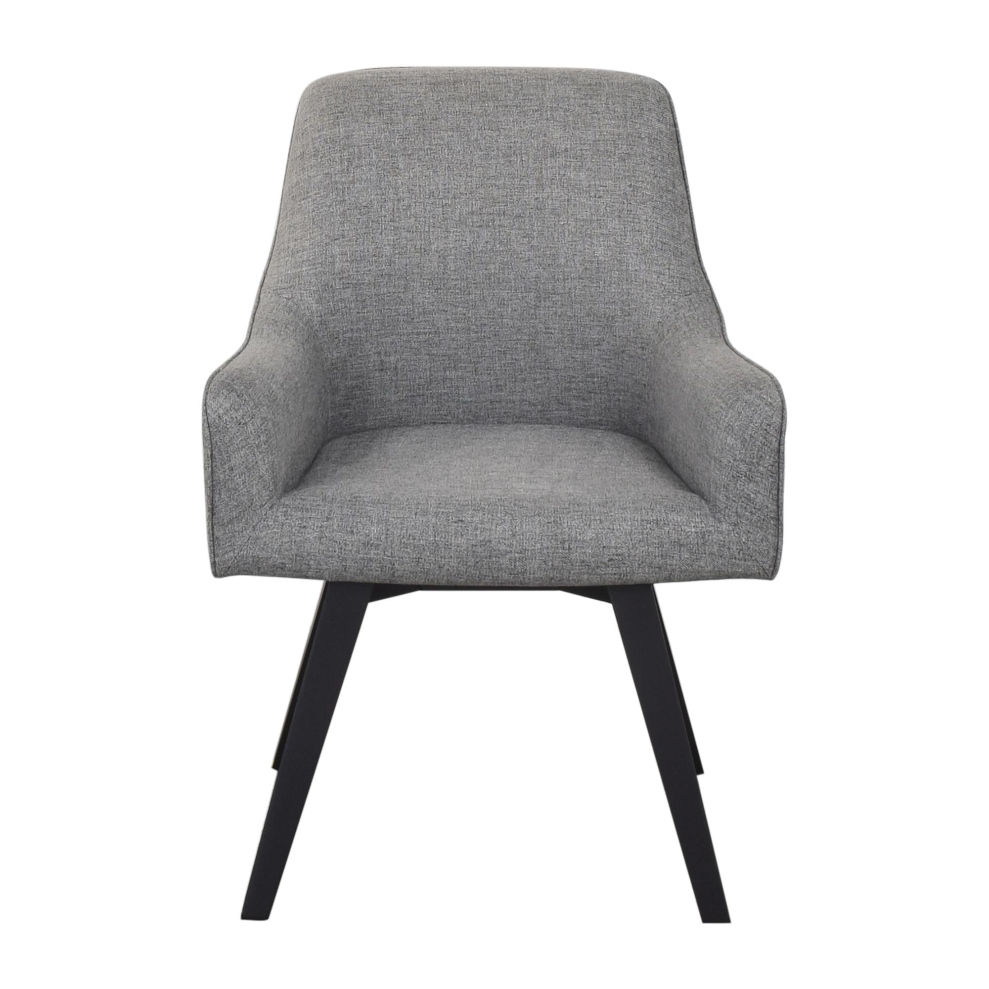 Crate & Barrel Harvey Swivel Arm Chair / Chairs
