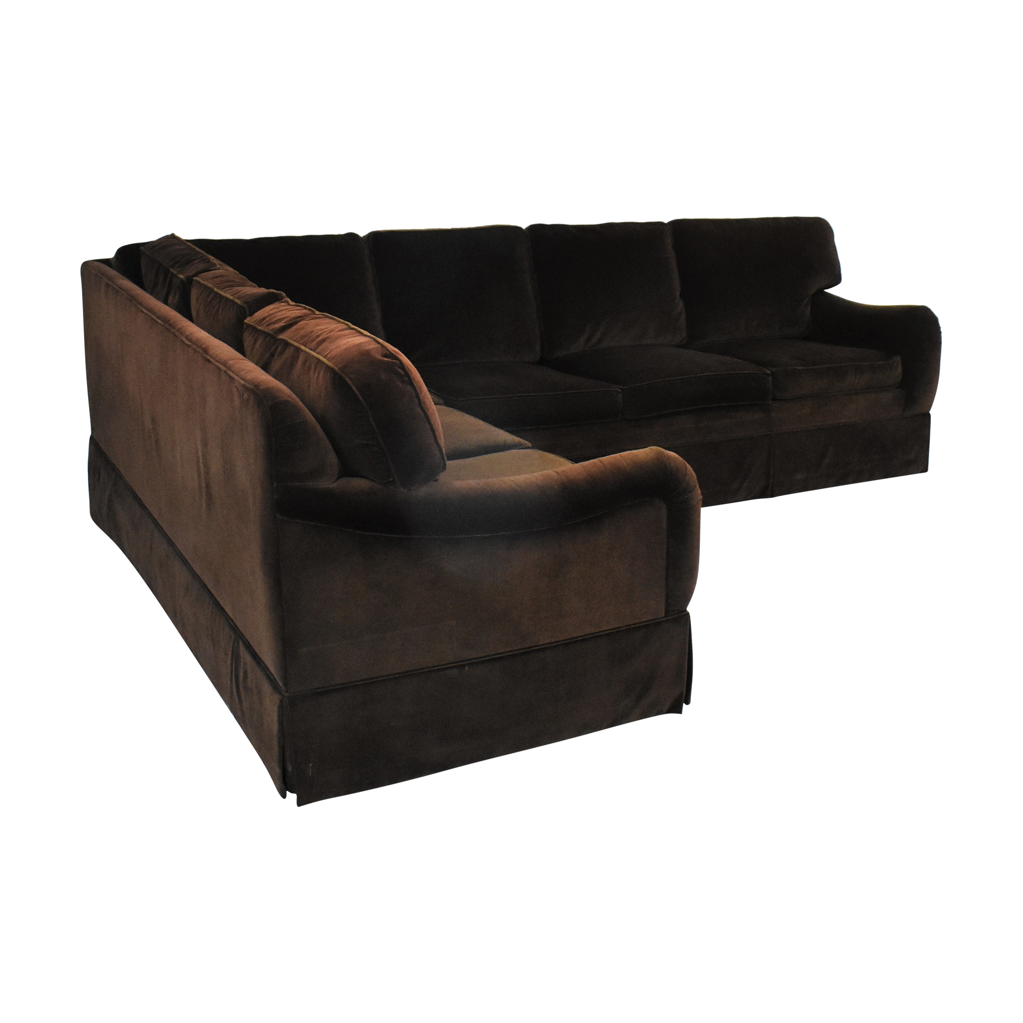 Ethan Allen L Shaped Sectional Sofa / Sofas
