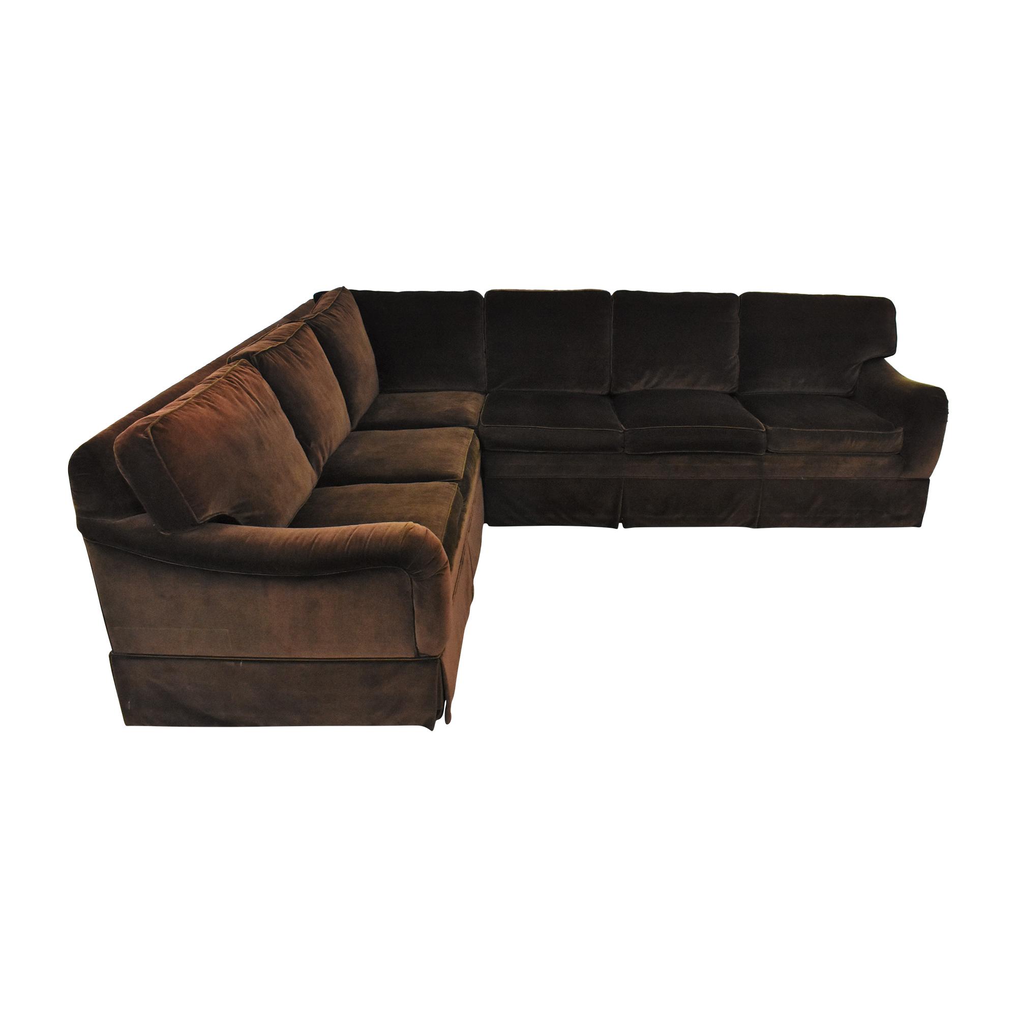 Ethan Allen L Shaped Sectional Sofa Ethan Allen