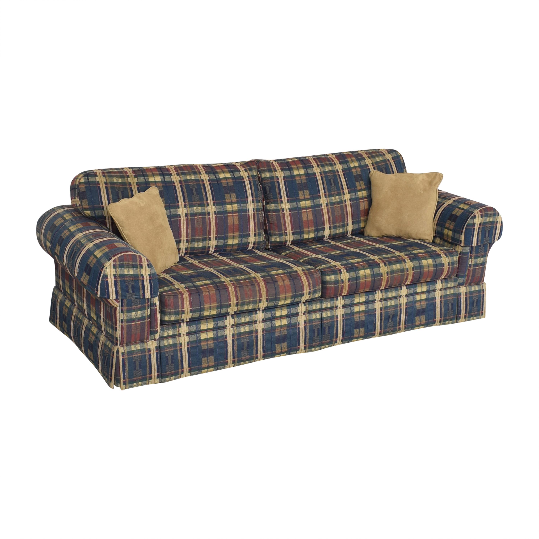 Norwalk Plaid Sleeper Sofa sale