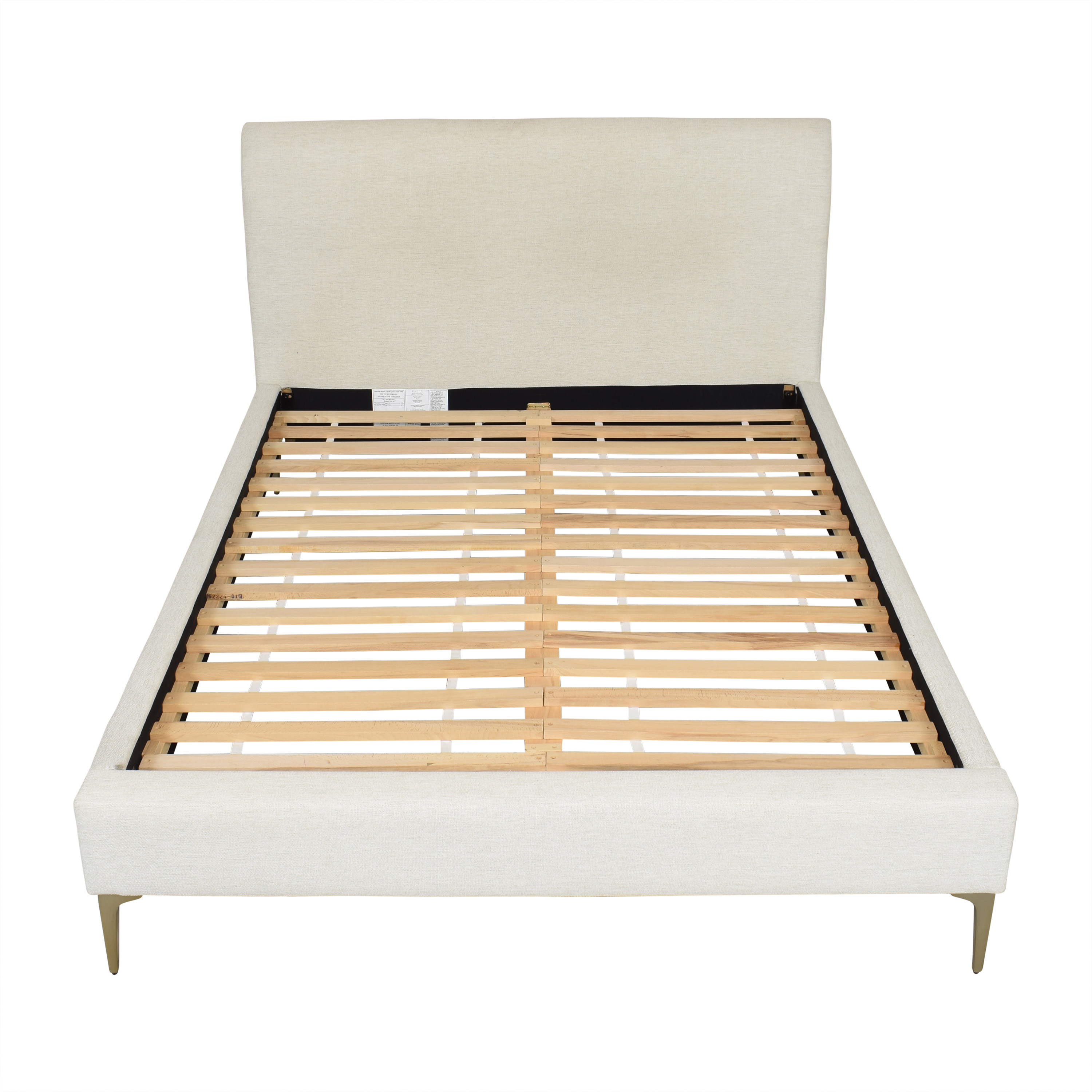 West Elm Andes Deco Upholstered Queen Bed sale