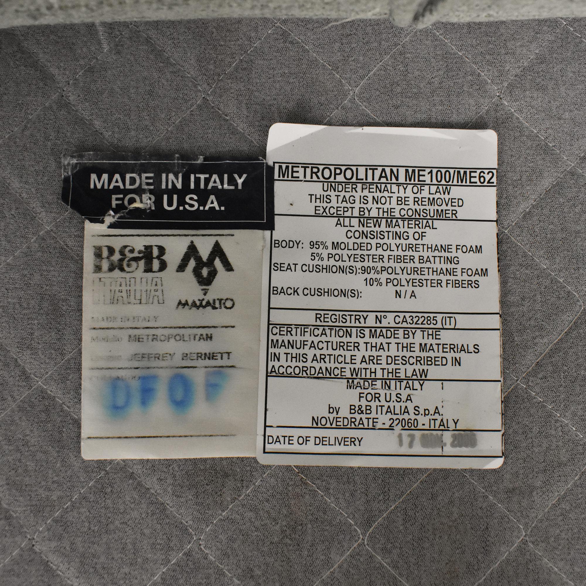 B&B Italia B&B Italia Metropolitan Swivel Chair nj