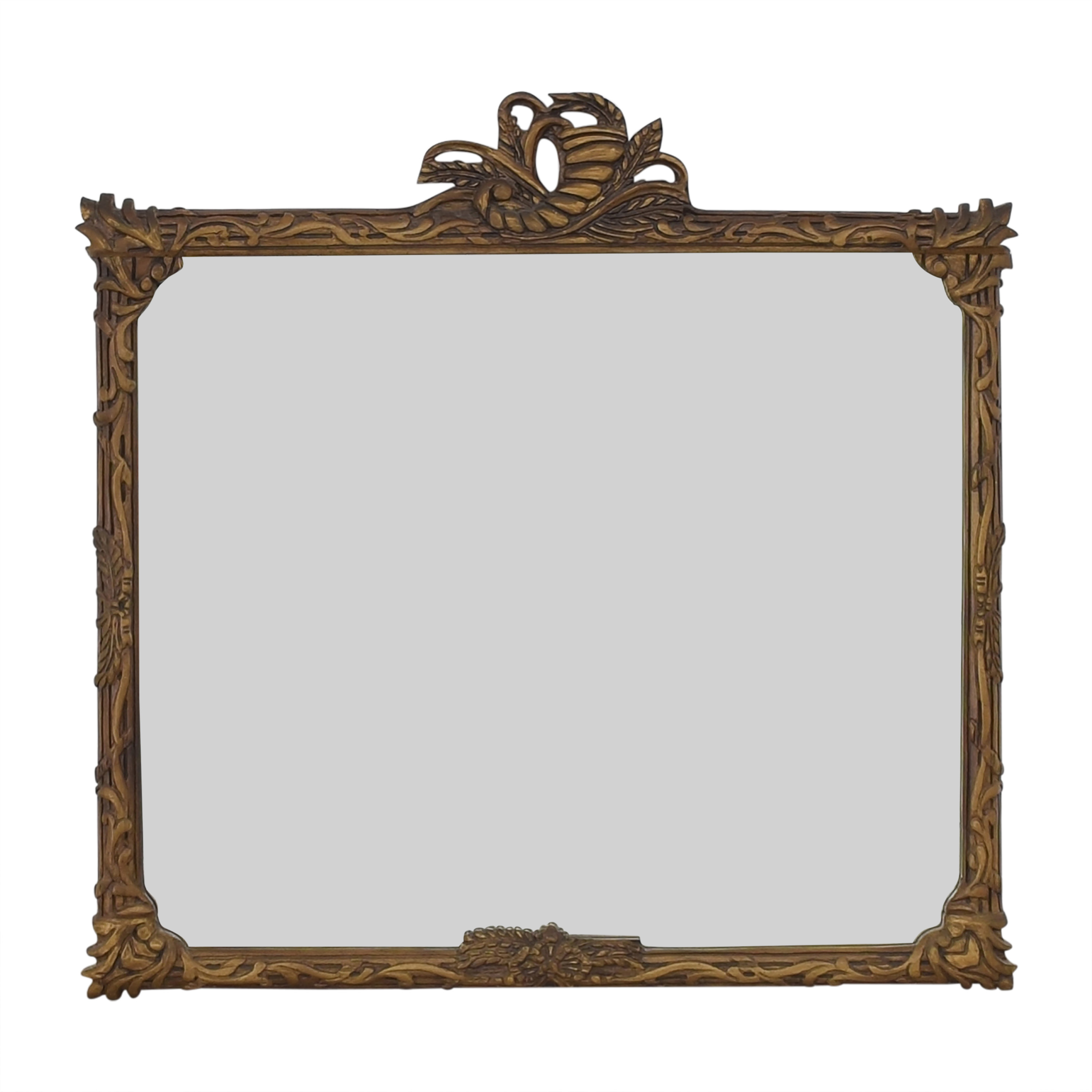 Wall Mirror with Carved Frame nj