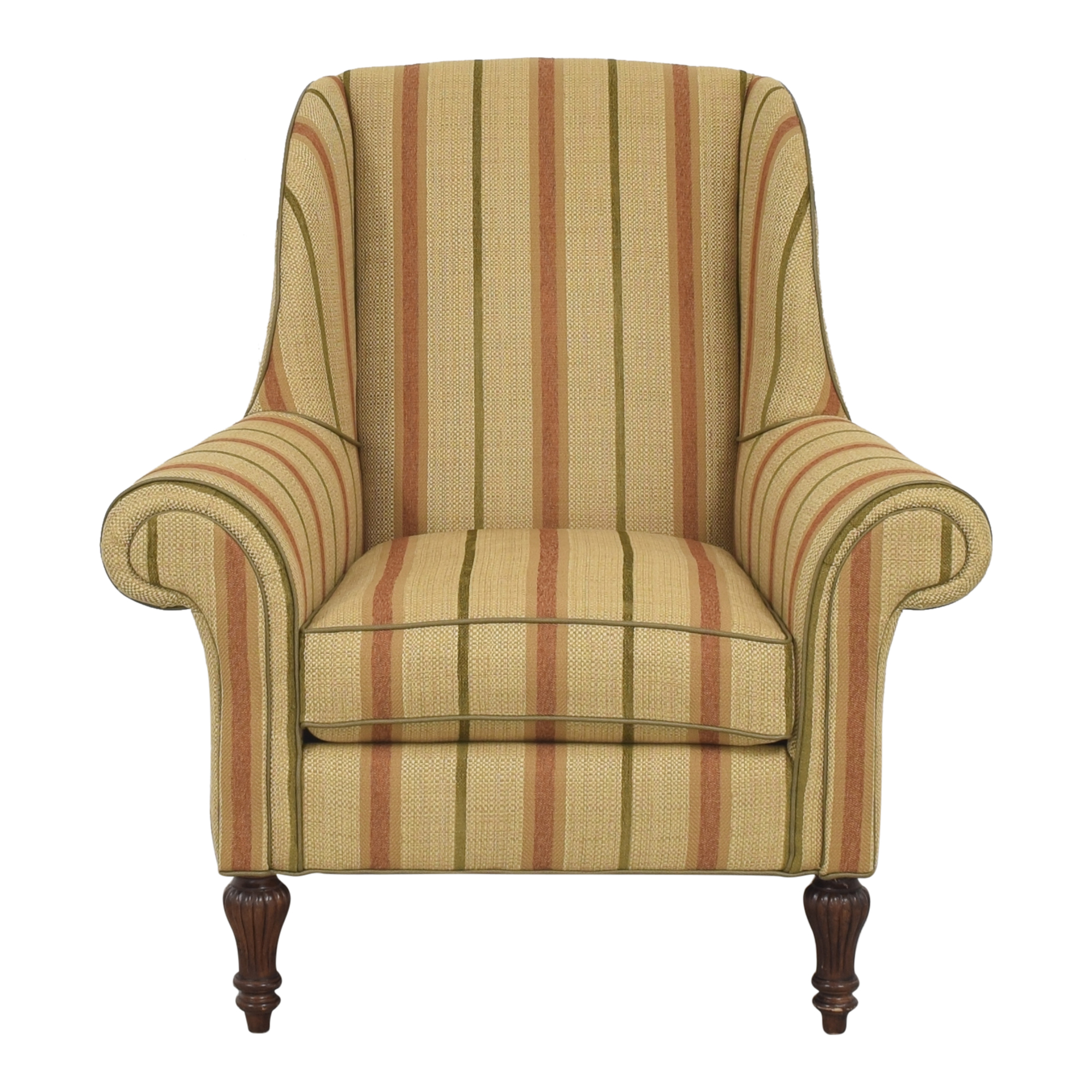 Thomasville Striped Wingback Chair / Accent Chairs