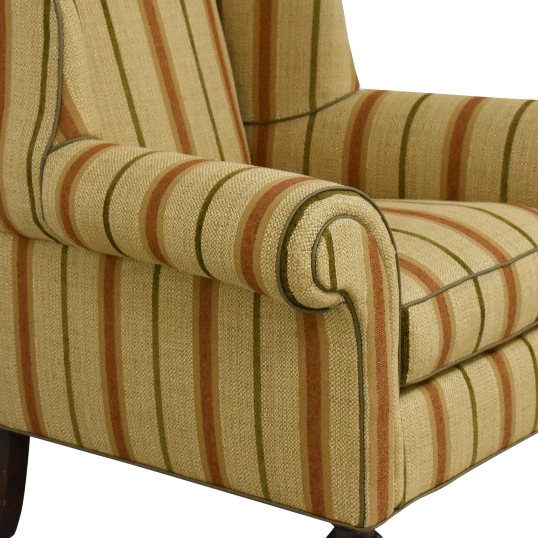 Thomasville Thomasville Striped Wingback Chair multi