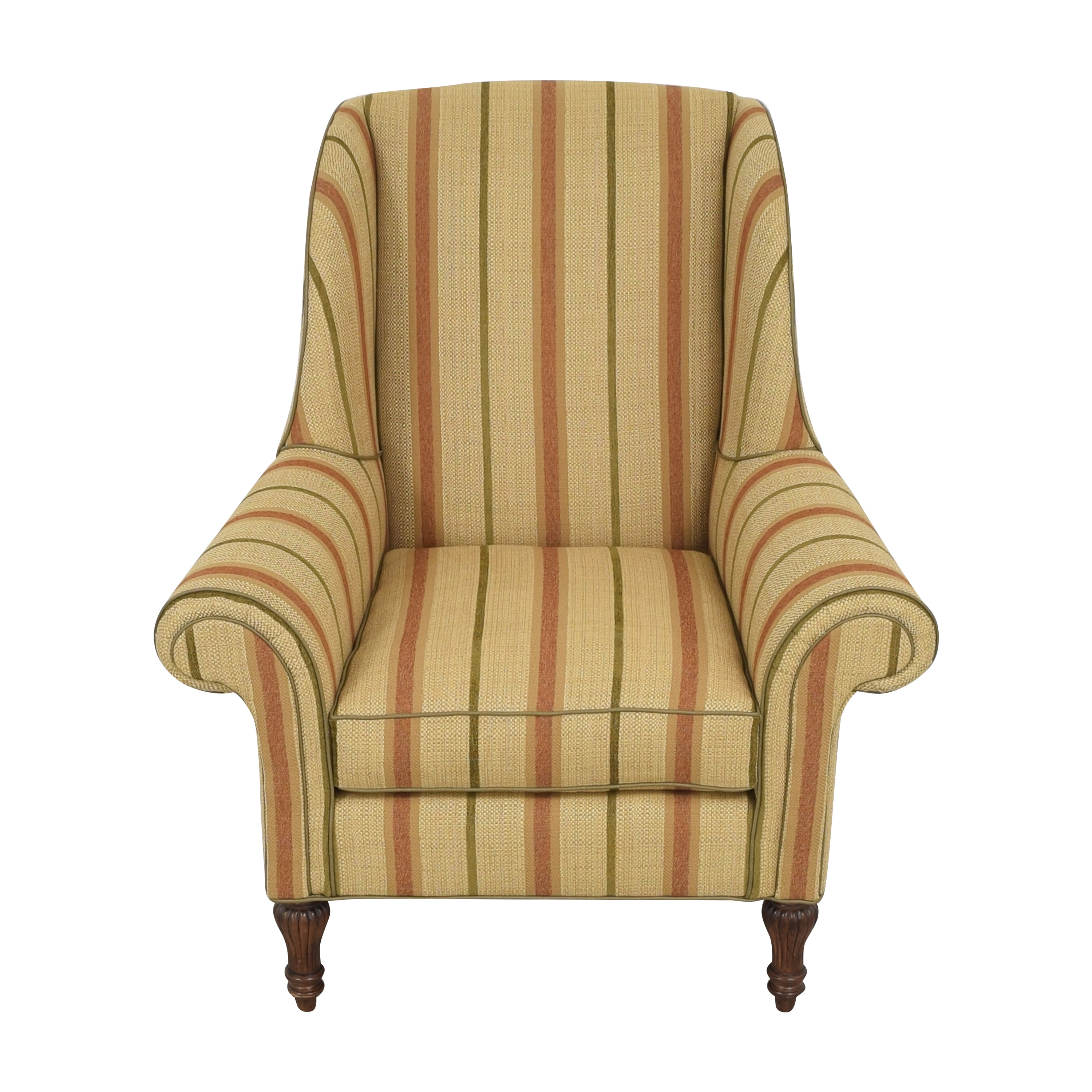 Thomasville Thomasville Striped Wingback Chair discount