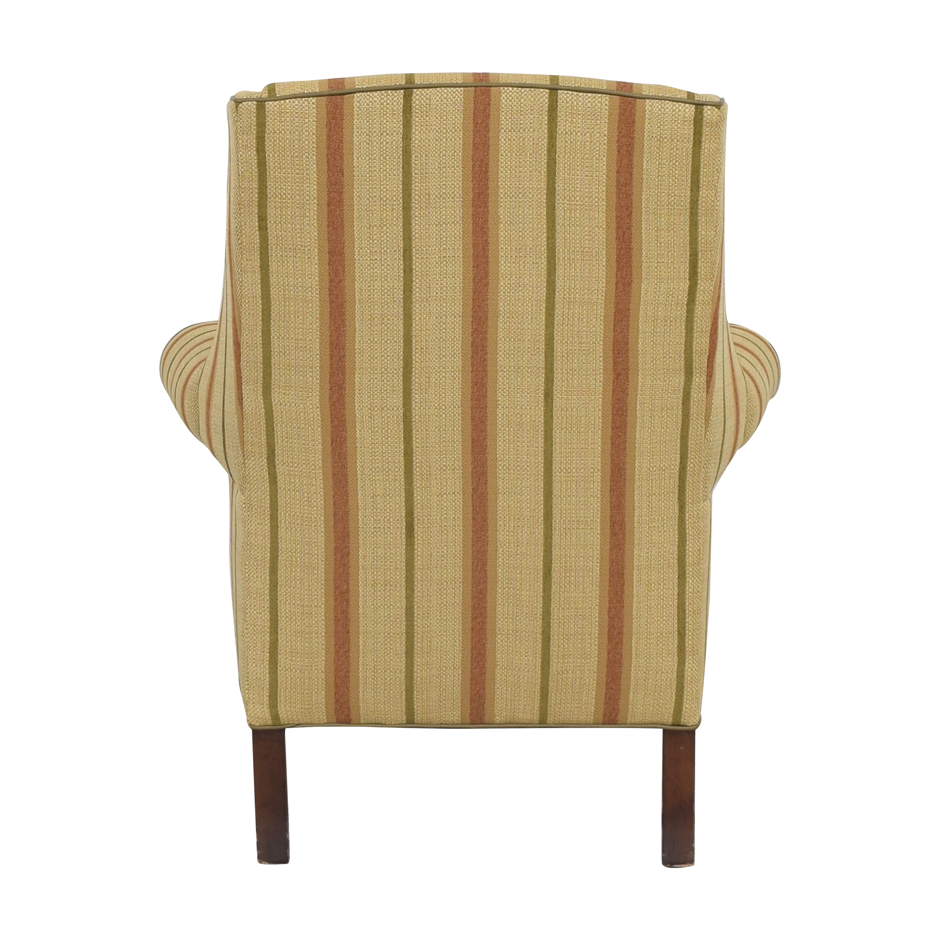 Thomasville Thomasville Striped Wingback Chair used