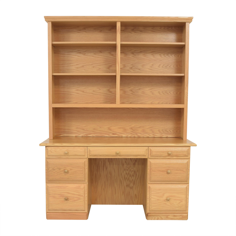 Gothic Cabinet Craft Gothic Cabinet Craft Riverdale Seven Drawer Desk with Hutch ma