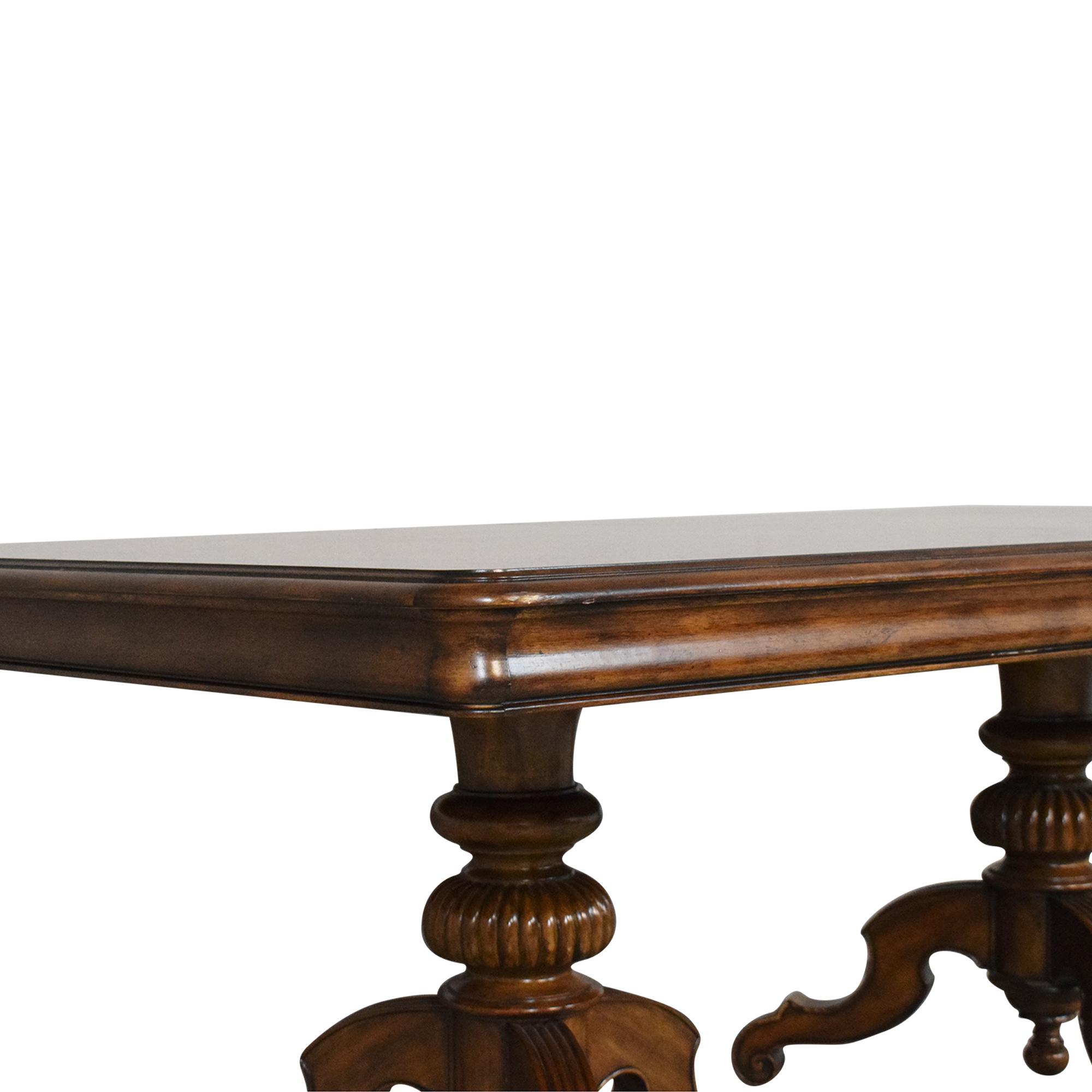 buy Thomasville Ernest Hemingway Castillian Double Pedestal Dining Table Thomasville Dinner Tables