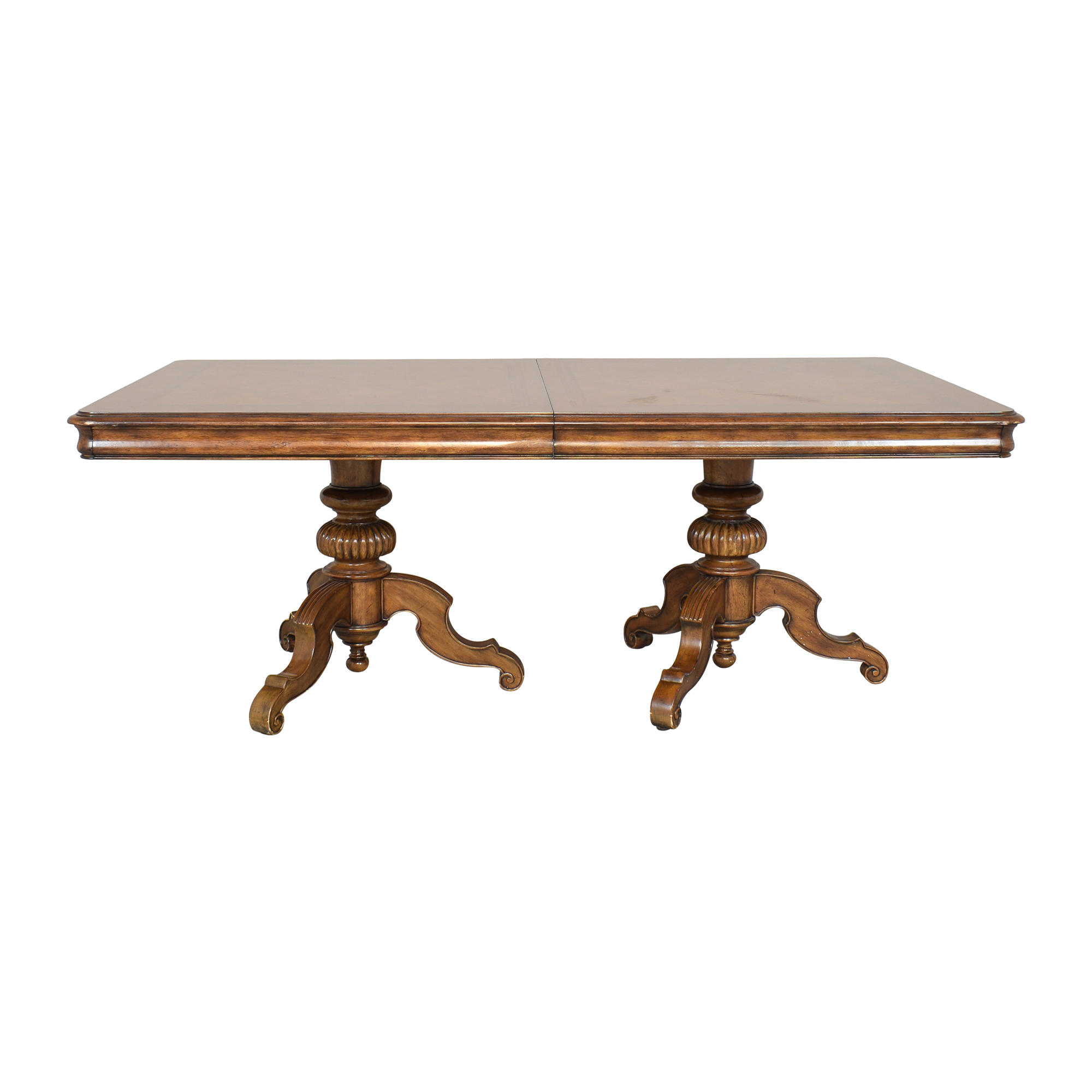 Thomasville Thomasville Ernest Hemingway Castillian Double Pedestal Dining Table brown