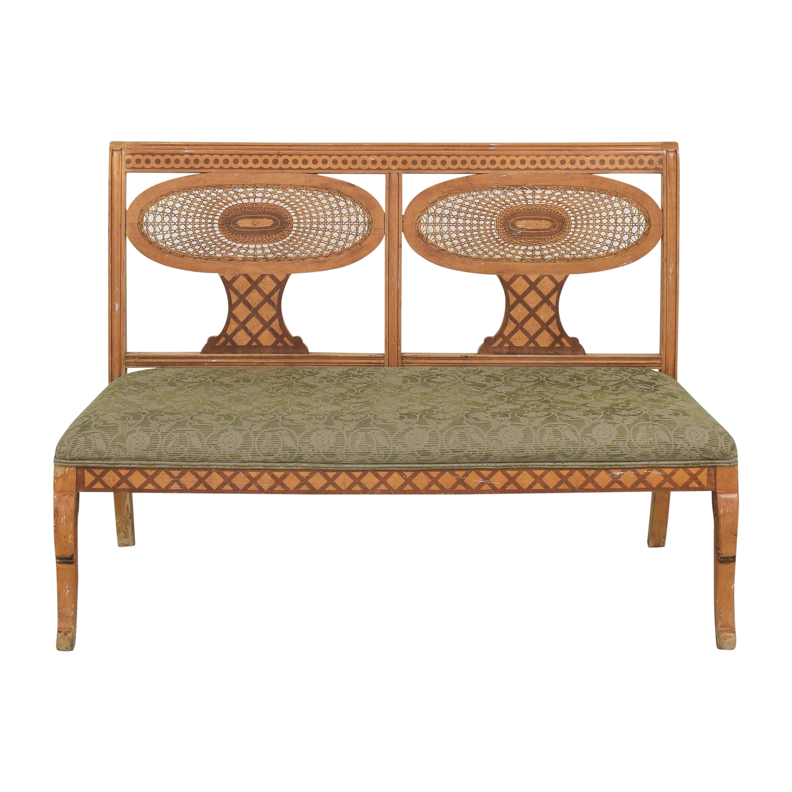 buy Double Medallion Back Bench