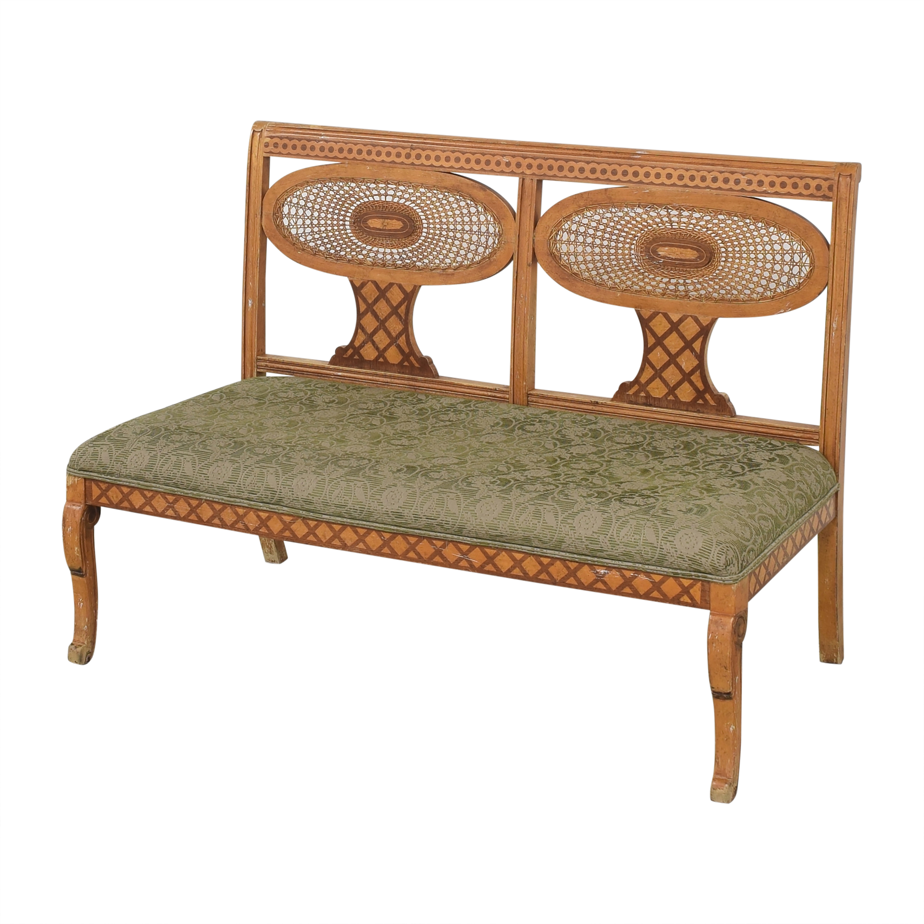 Double Medallion Back Bench on sale
