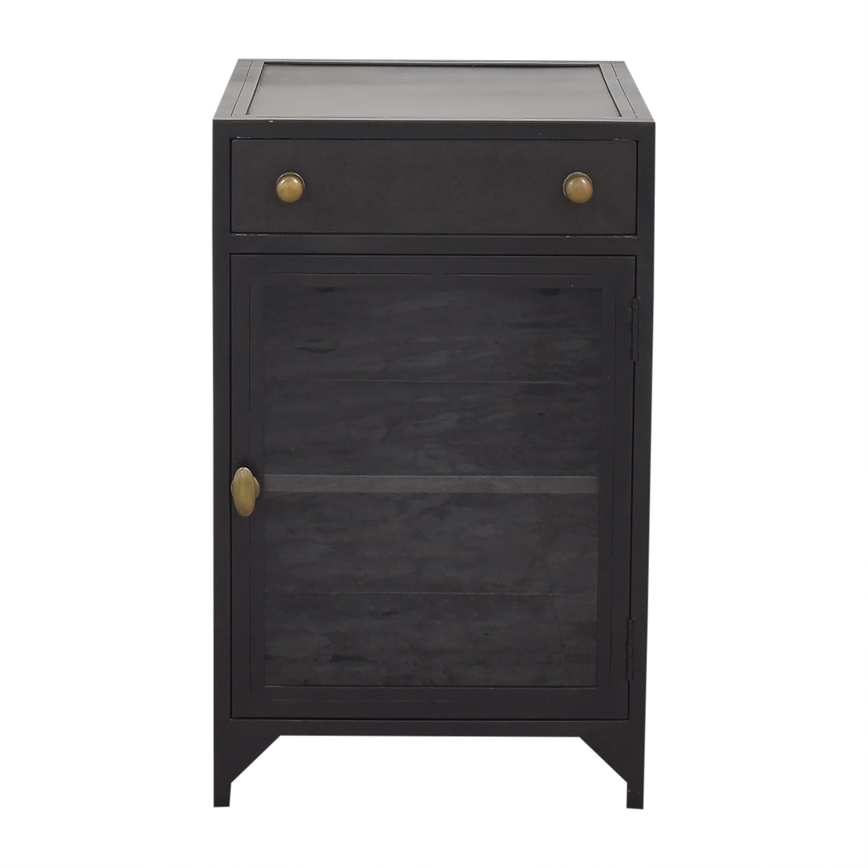 shop Crate & Barrel Side Table with Cabinet Crate & Barrel End Tables