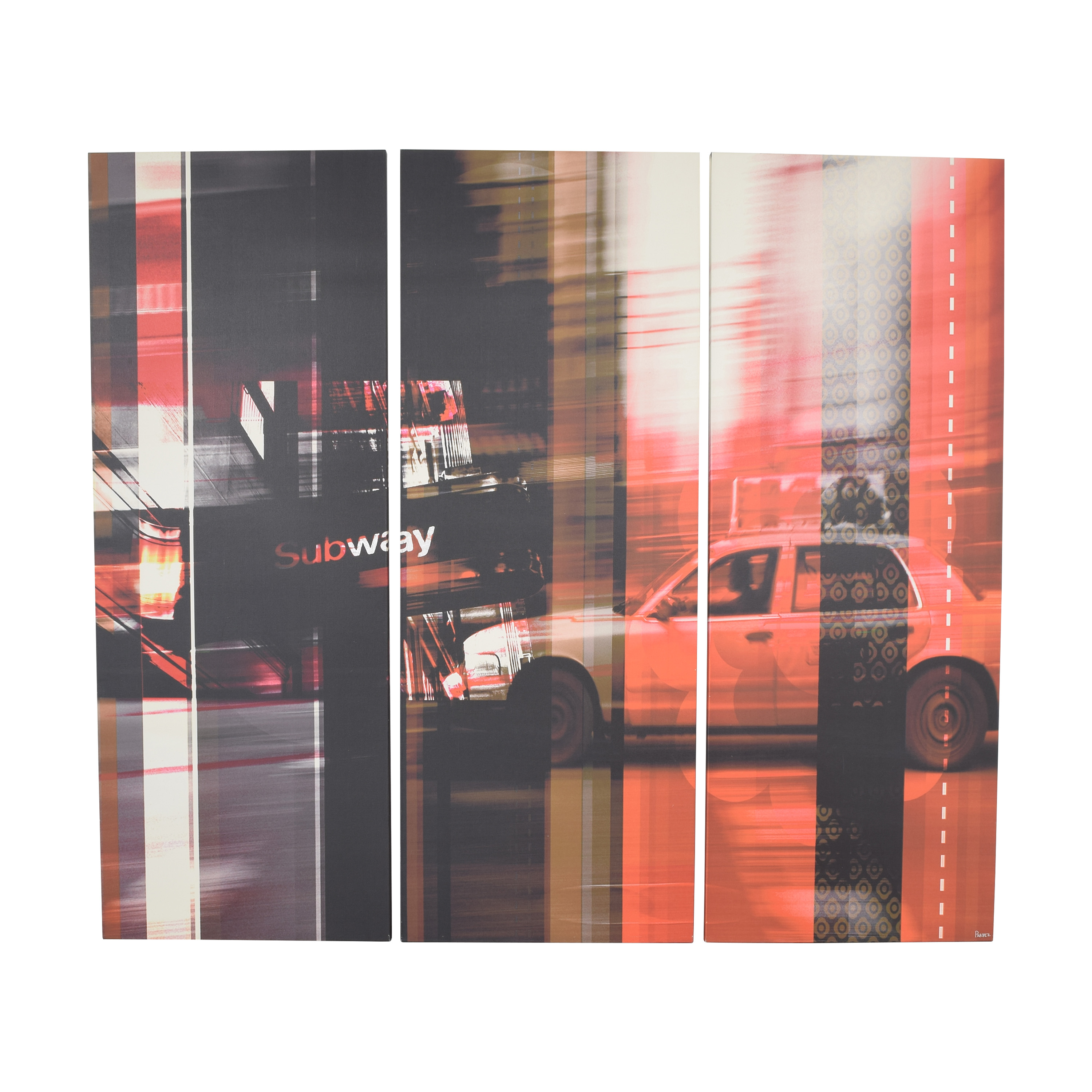 CB2 CB2 New York Minute Panels Oversize Wall Art pa