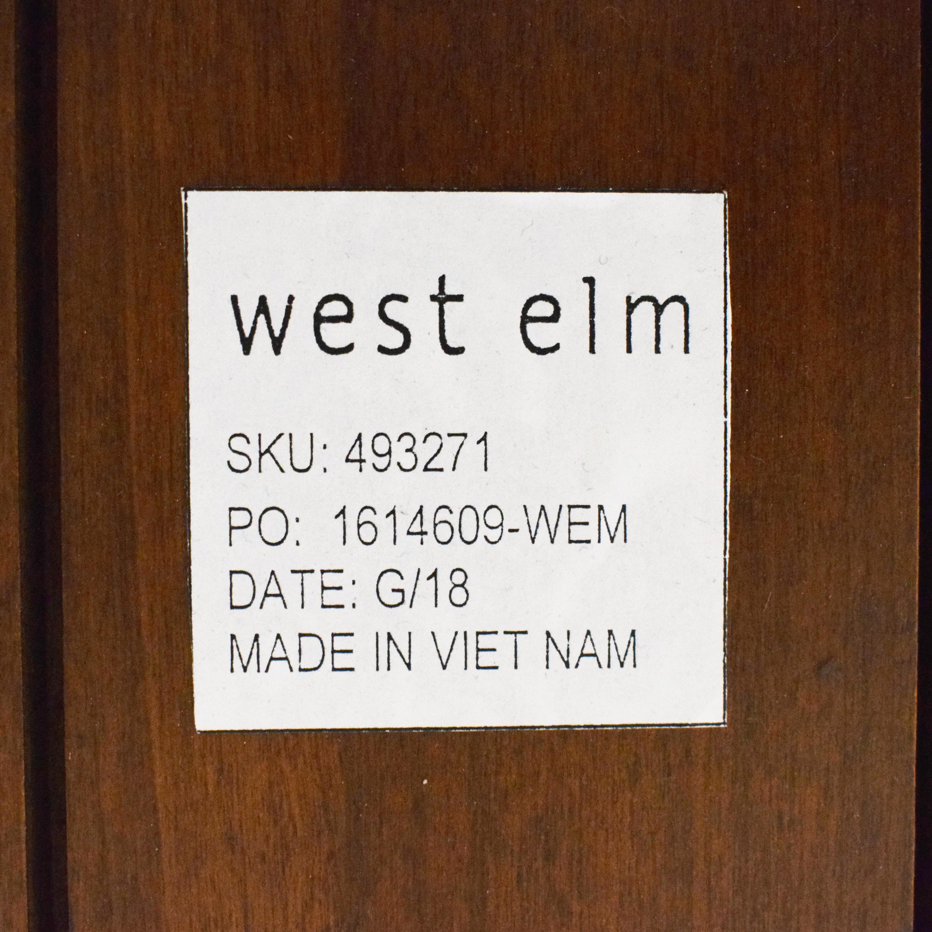 West Elm West Elm Lena Mid Century Dining Table discount