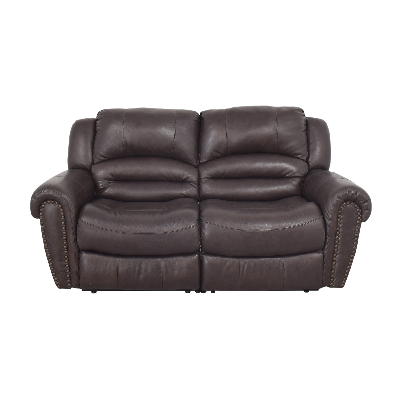 Raymour & Flanigan Raymour & Flanigan Two Cushion Recliner Sofa dimensions
