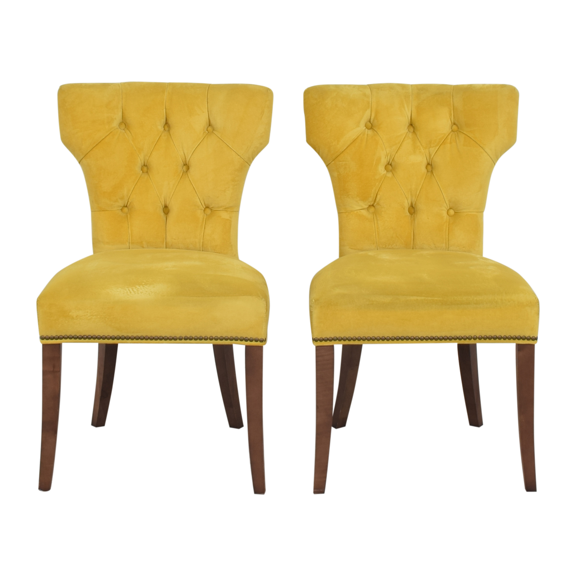 Lillian August Lillian August Farmhouse Yellow Kitchen Chairs second hand