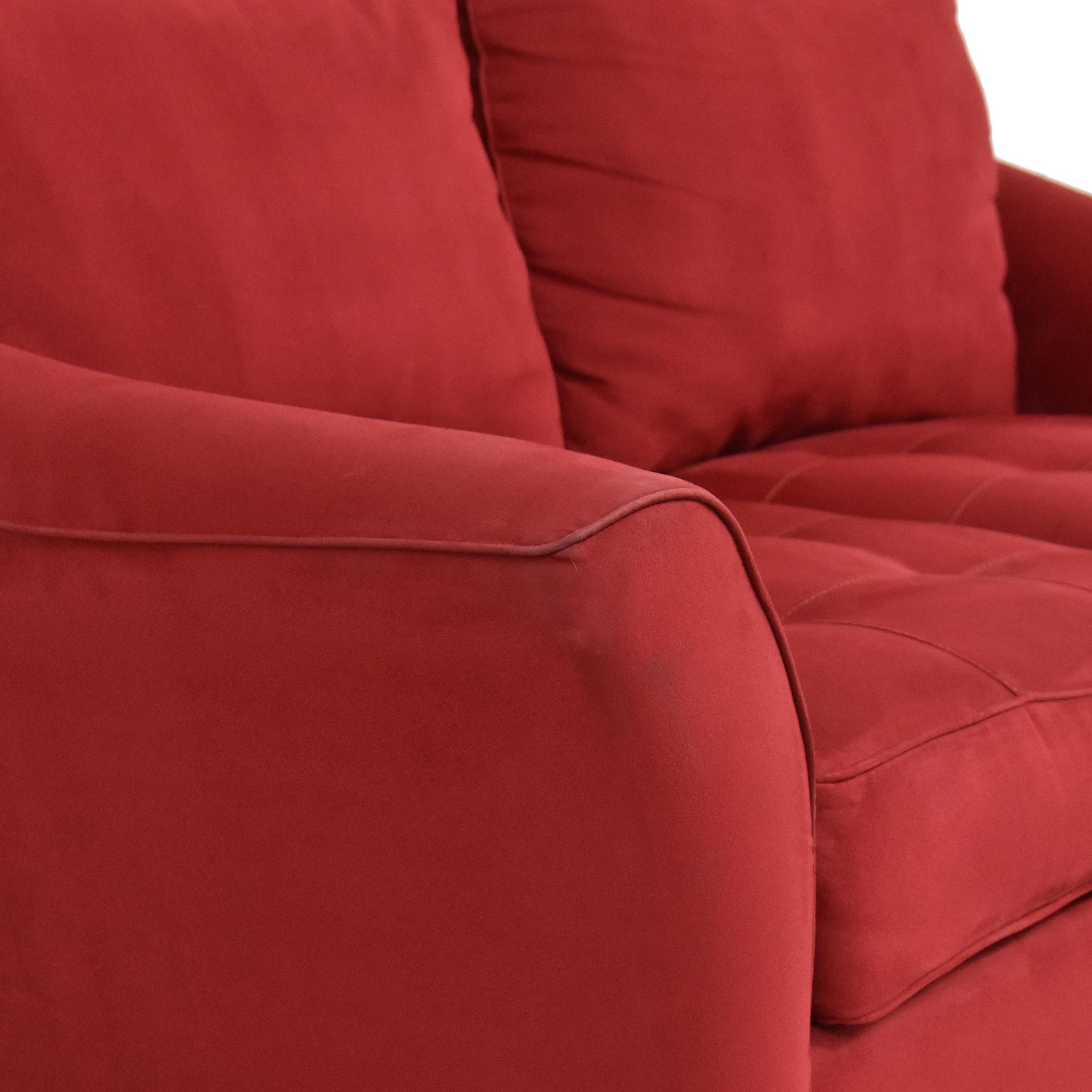 Raymour & Flanigan Raymour & Flanigan Tufted Cushion Loveseat discount