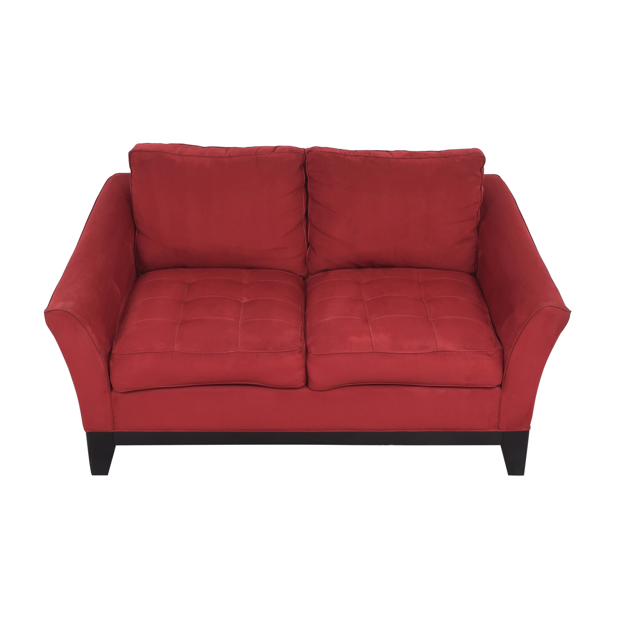Raymour & Flanigan Raymour & Flanigan Tufted Cushion Loveseat on sale