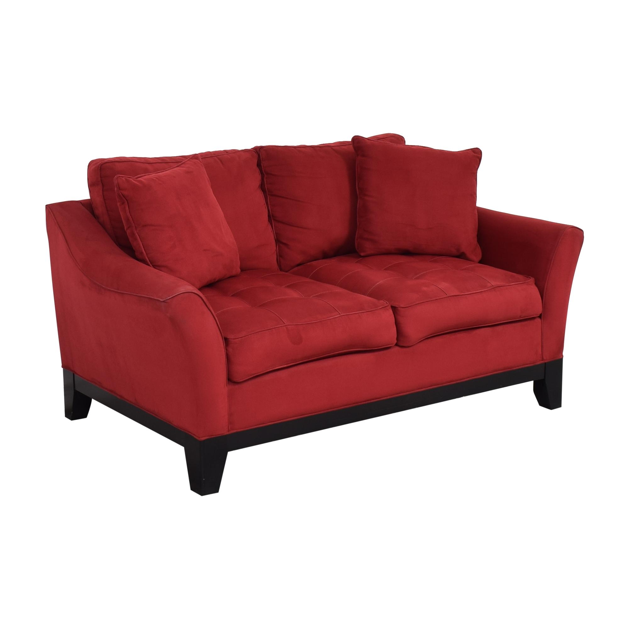 buy Raymour & Flanigan Tufted Cushion Loveseat Raymour & Flanigan Loveseats