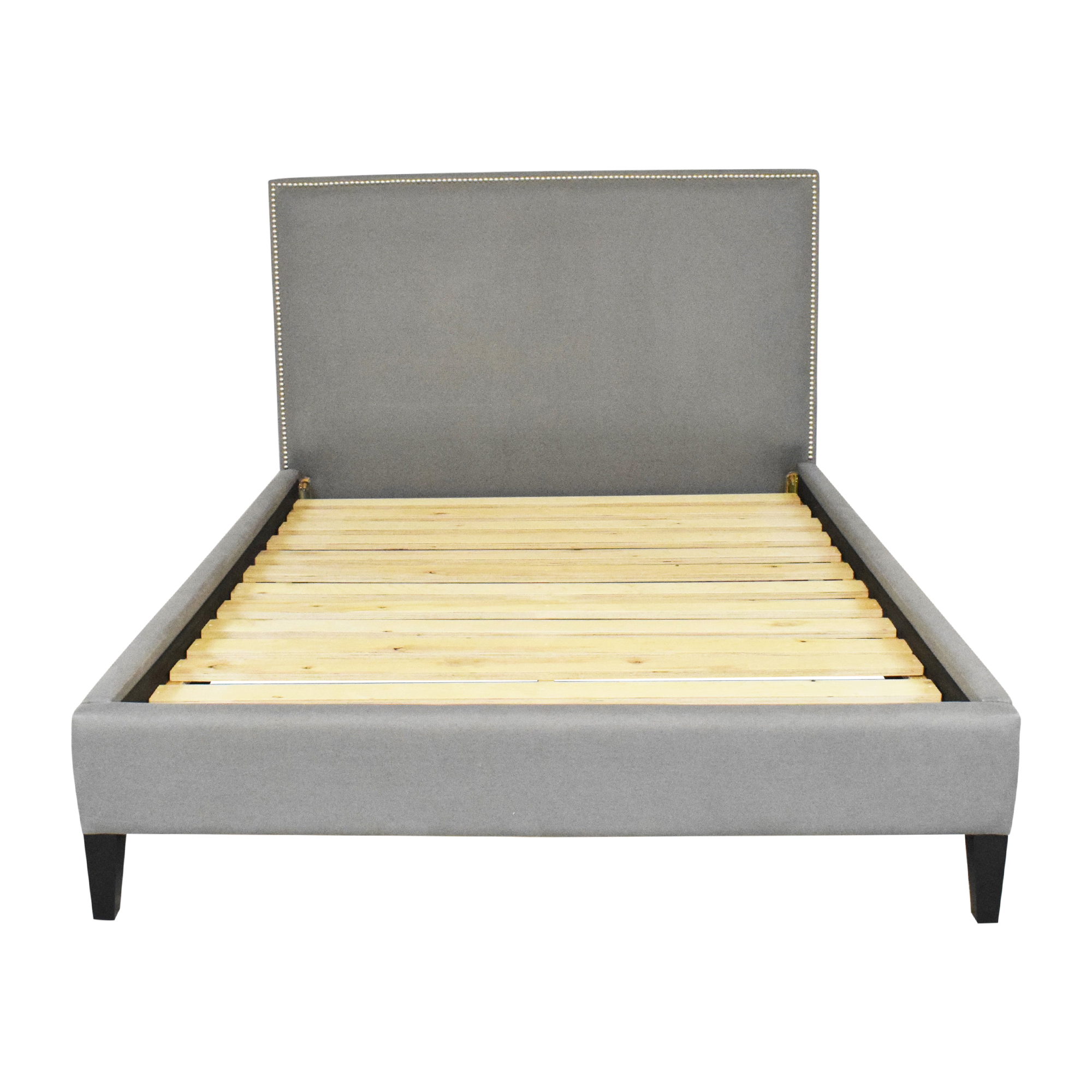Crate & Barrel Cole Upholstered Queen Bed / Beds