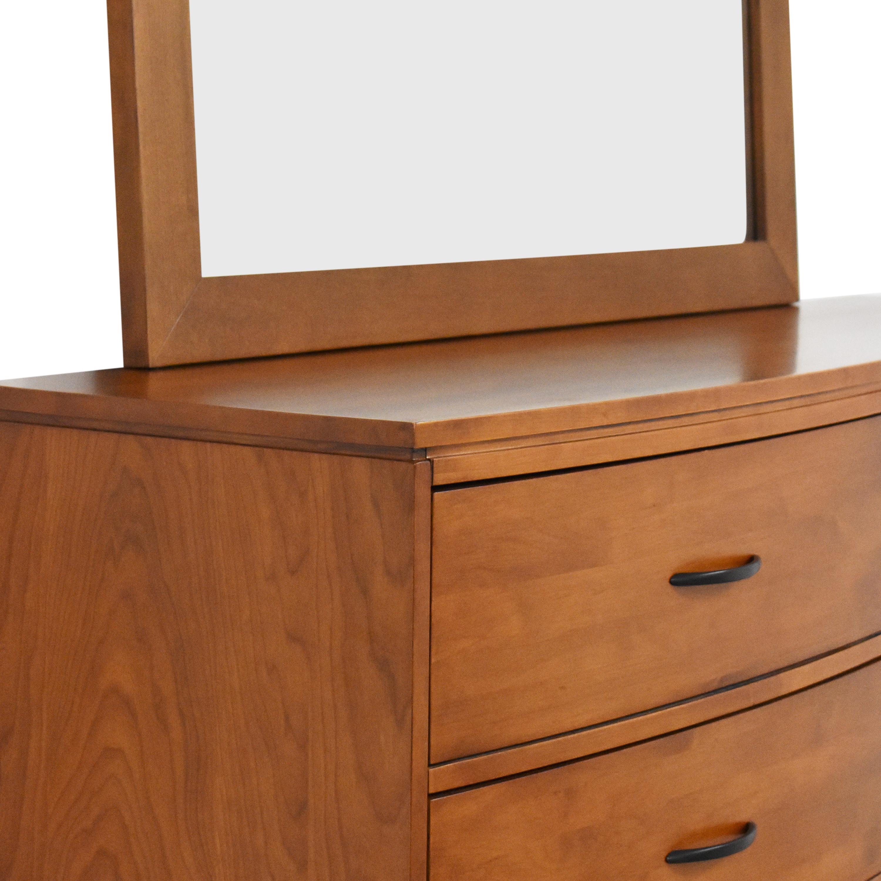 shop Pottery Barn Eight Drawer Dresser with Mirror Pottery Barn