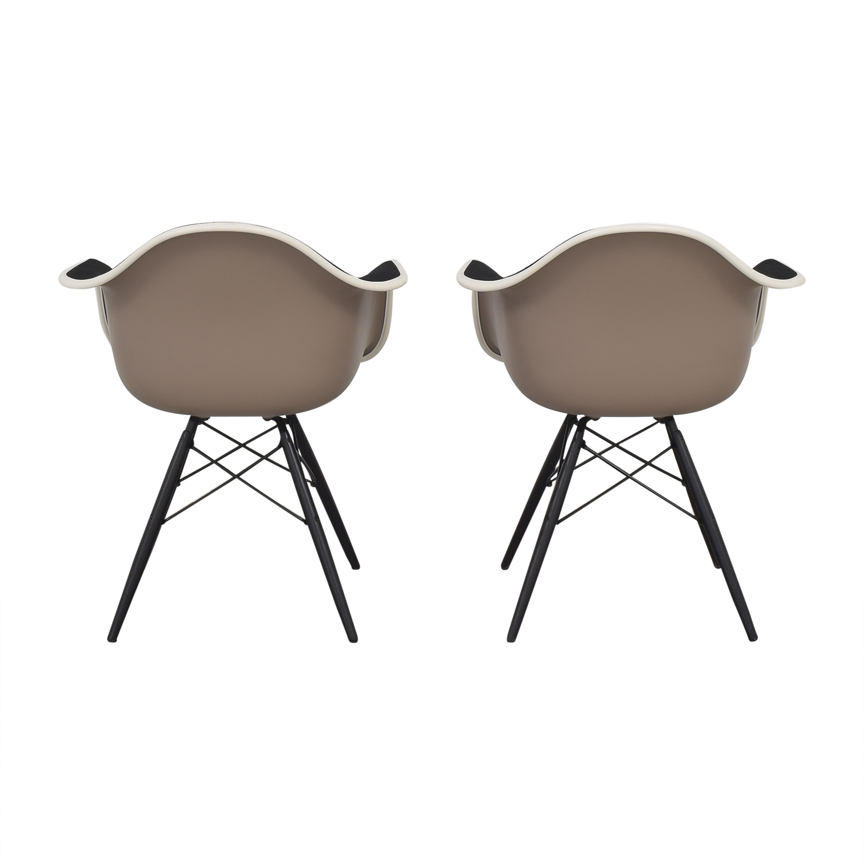 shop Herman Miller Eames Molded Arm Chairs Herman Miller Dining Chairs