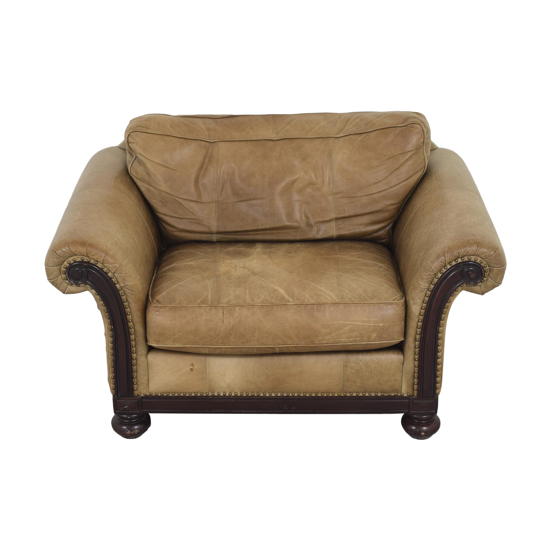 Bernhardt Bernhardt Roll Arm Accent Chair brown