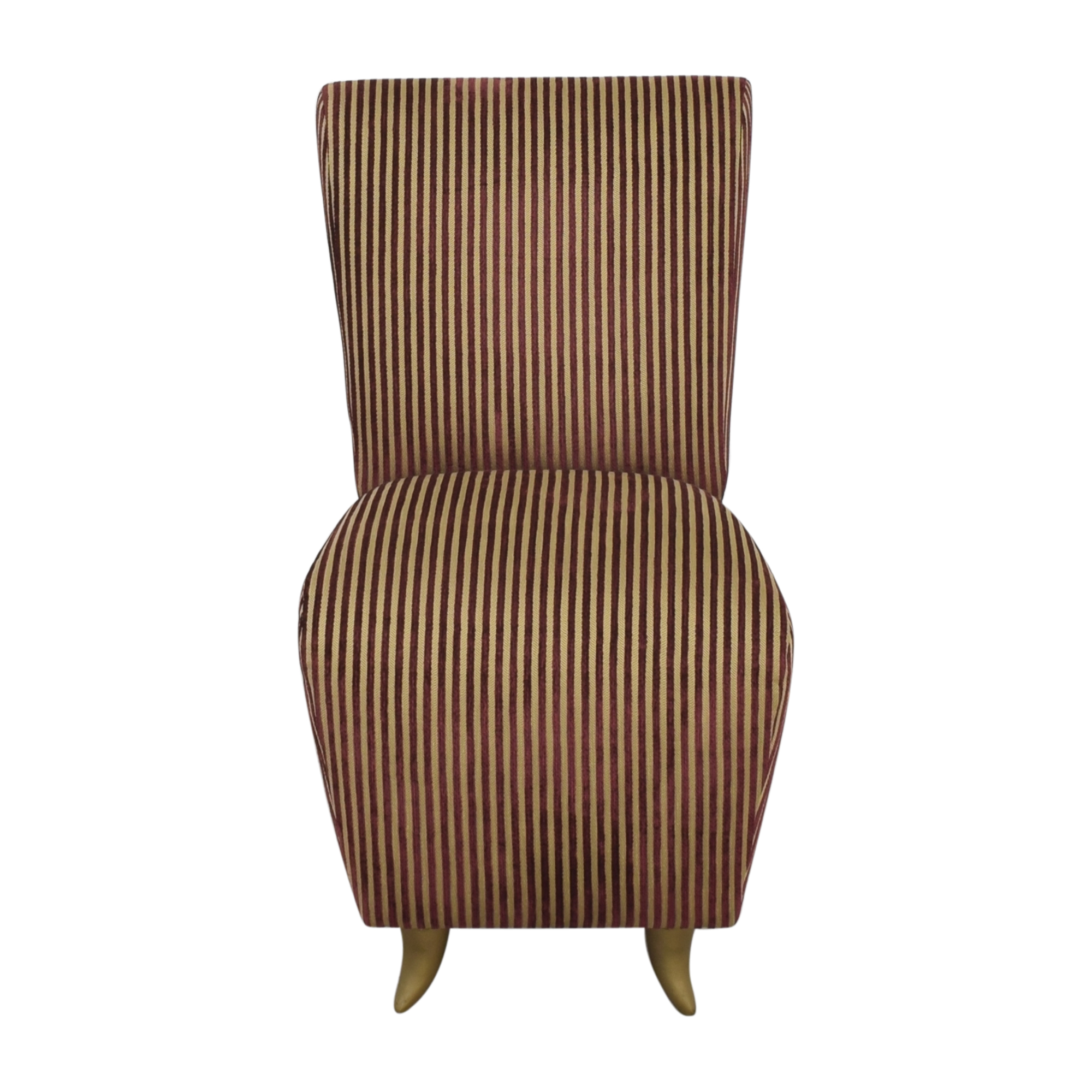 shop Dialogica Striped Slipper Chair Dialogica