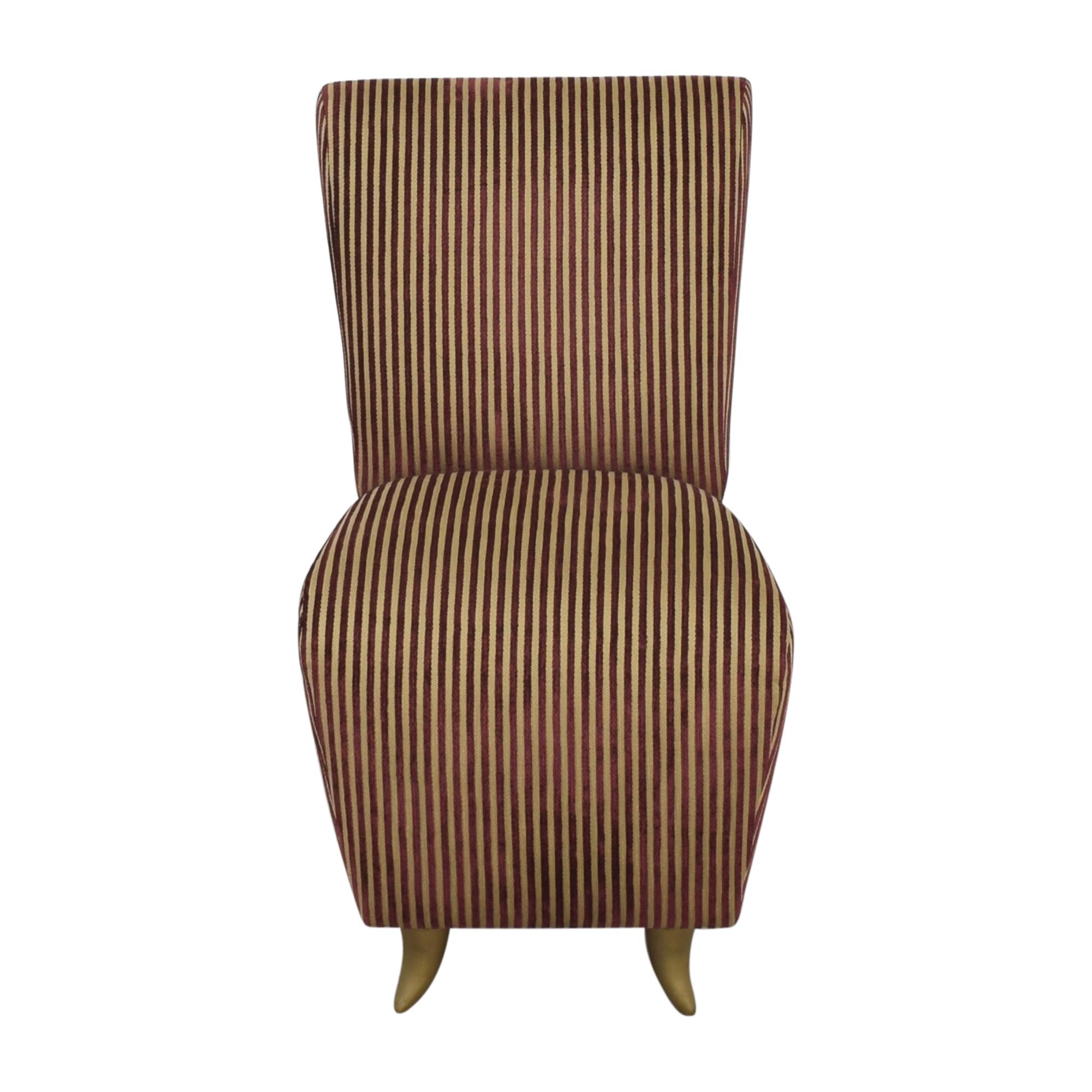 shop Dialogica Striped Slipper Chair Dialogica
