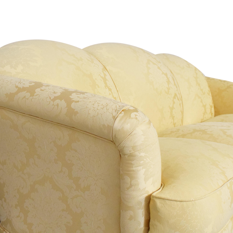 Thomasville Thomasville Scalloped Three Cushion Sofa nj