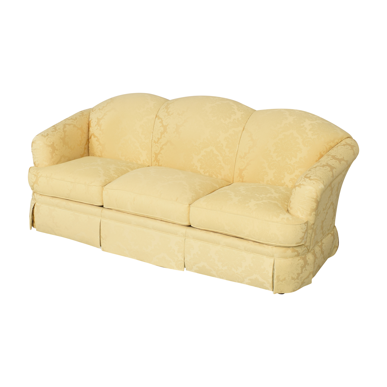buy Thomasville Scalloped Three Cushion Sofa Thomasville