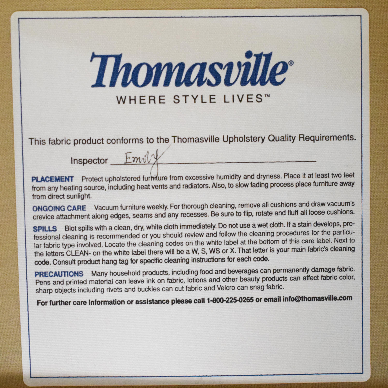 Thomasville Thomasville Scalloped Three Cushion Sofa discount