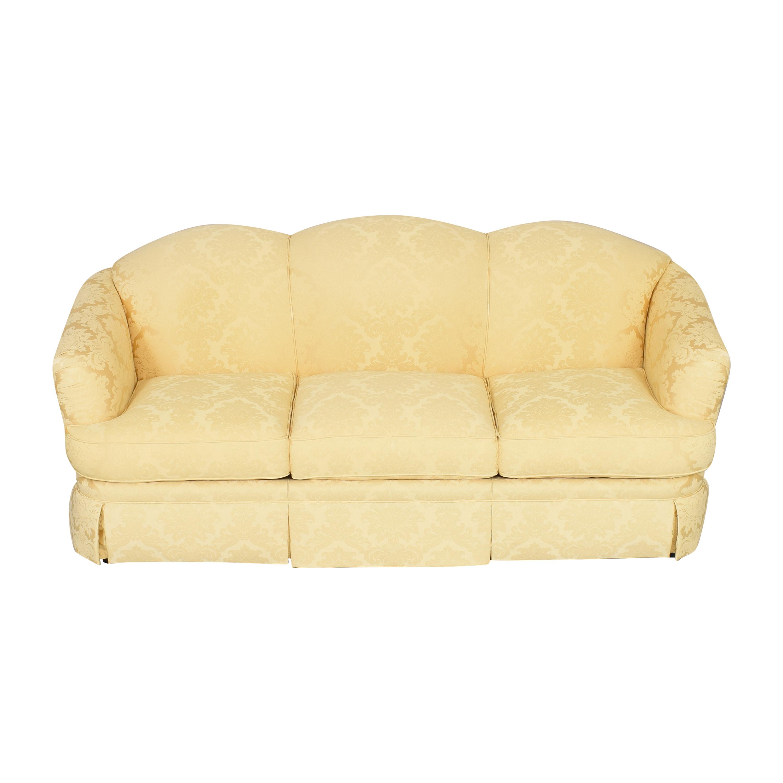 Thomasville Thomasville Scalloped Three Cushion Sofa second hand