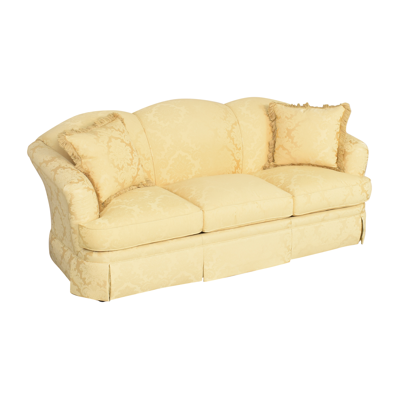 Thomasville Scalloped Three Cushion Sofa / Sofas
