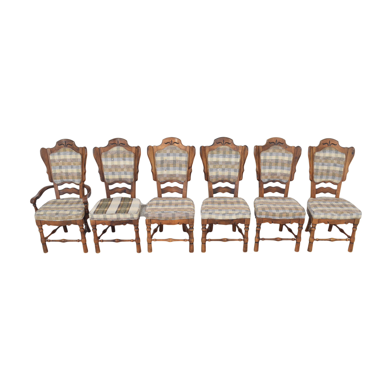 Burlington House Furniture Burlington House Furniture Plaid Dining Chairs dimensions