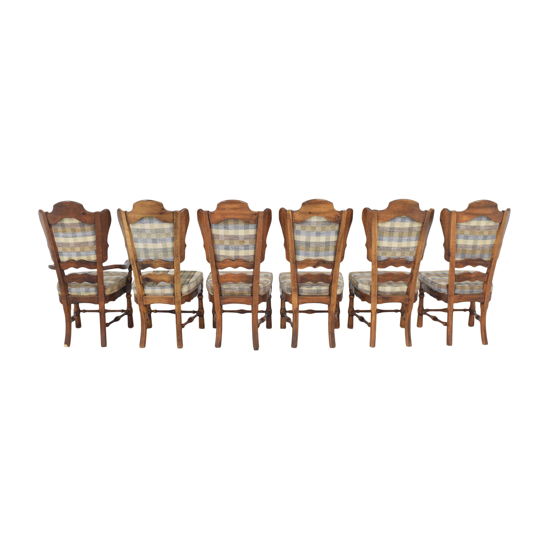 Burlington House Furniture Burlington House Furniture Plaid Dining Chairs used